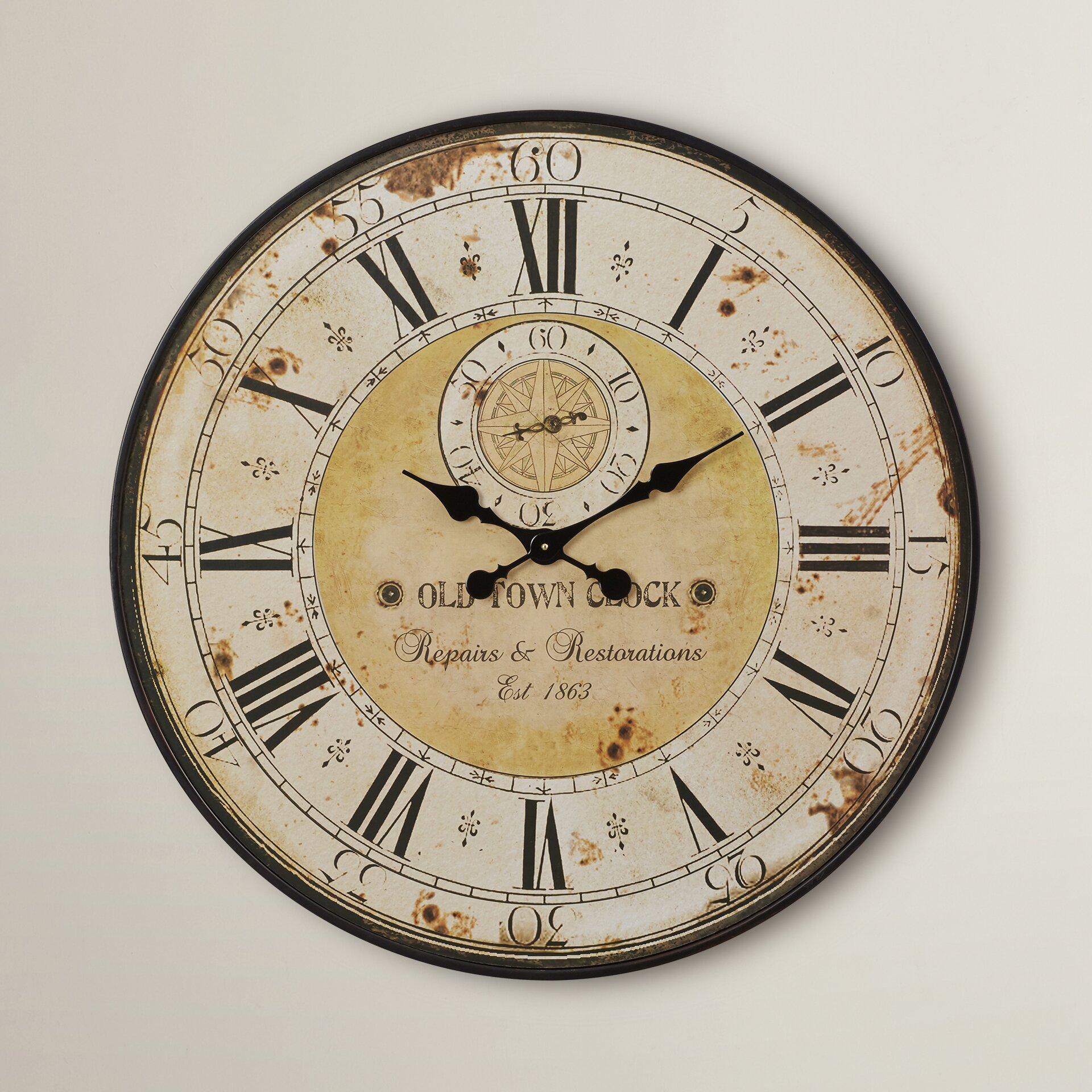 One Allium Way Oversized 31 Round Wall Clock Reviews