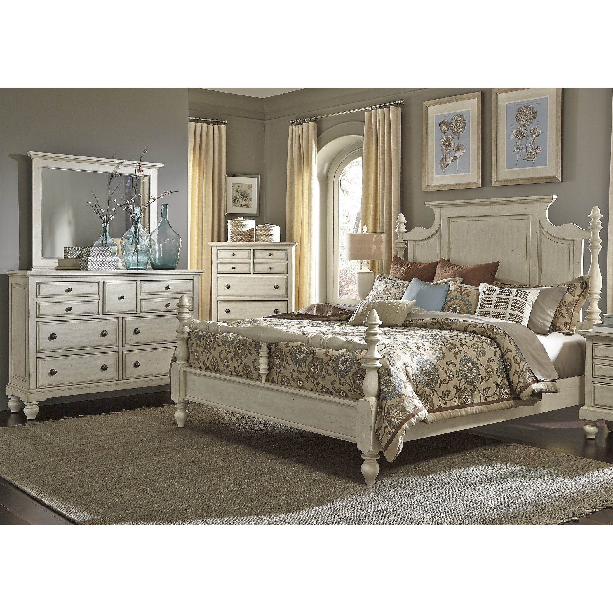 one allium way pearson four poster customizable bedroom set reviews wayfair. Black Bedroom Furniture Sets. Home Design Ideas