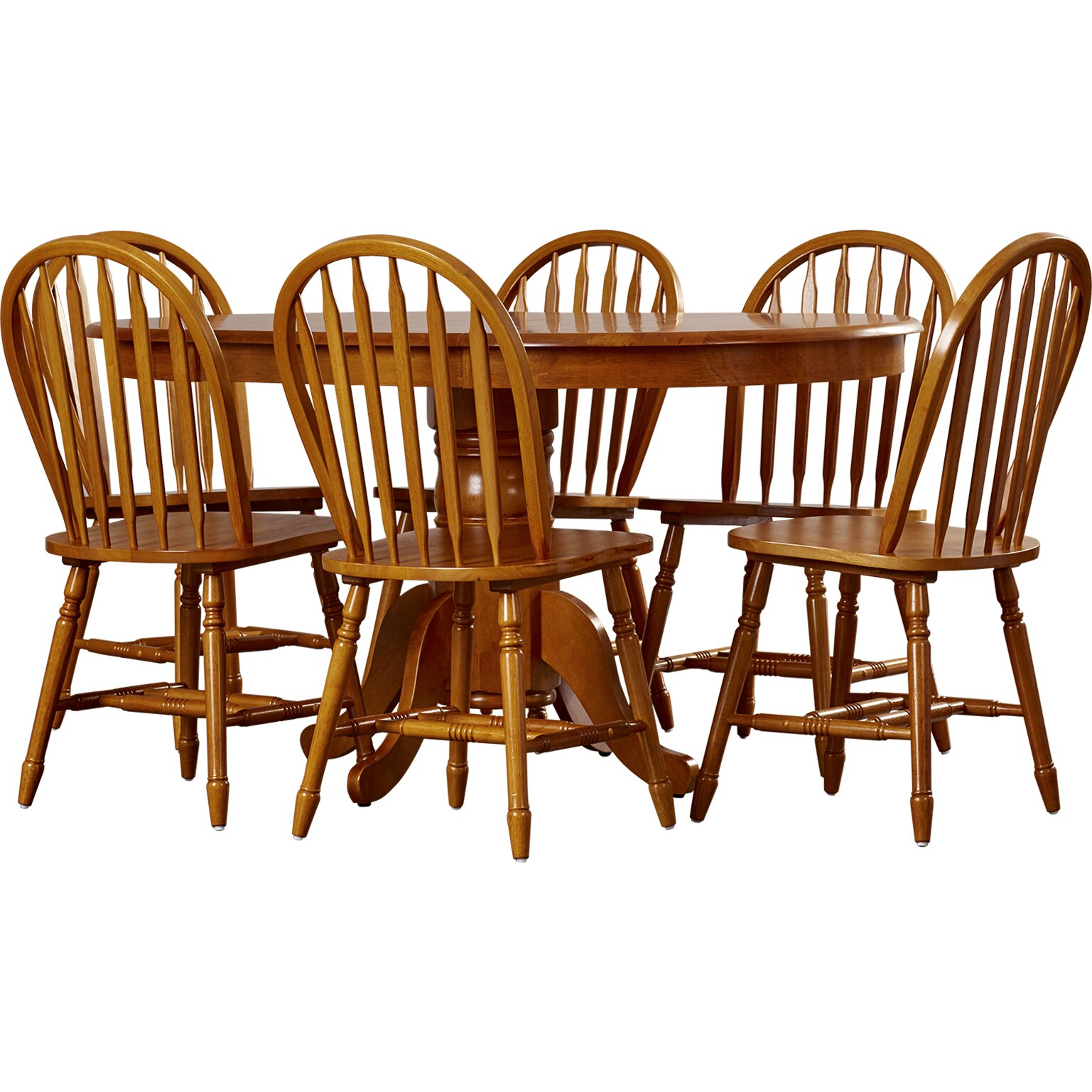 One allium way leonora 7 piece dining set reviews wayfair for Furniture 7 reviews
