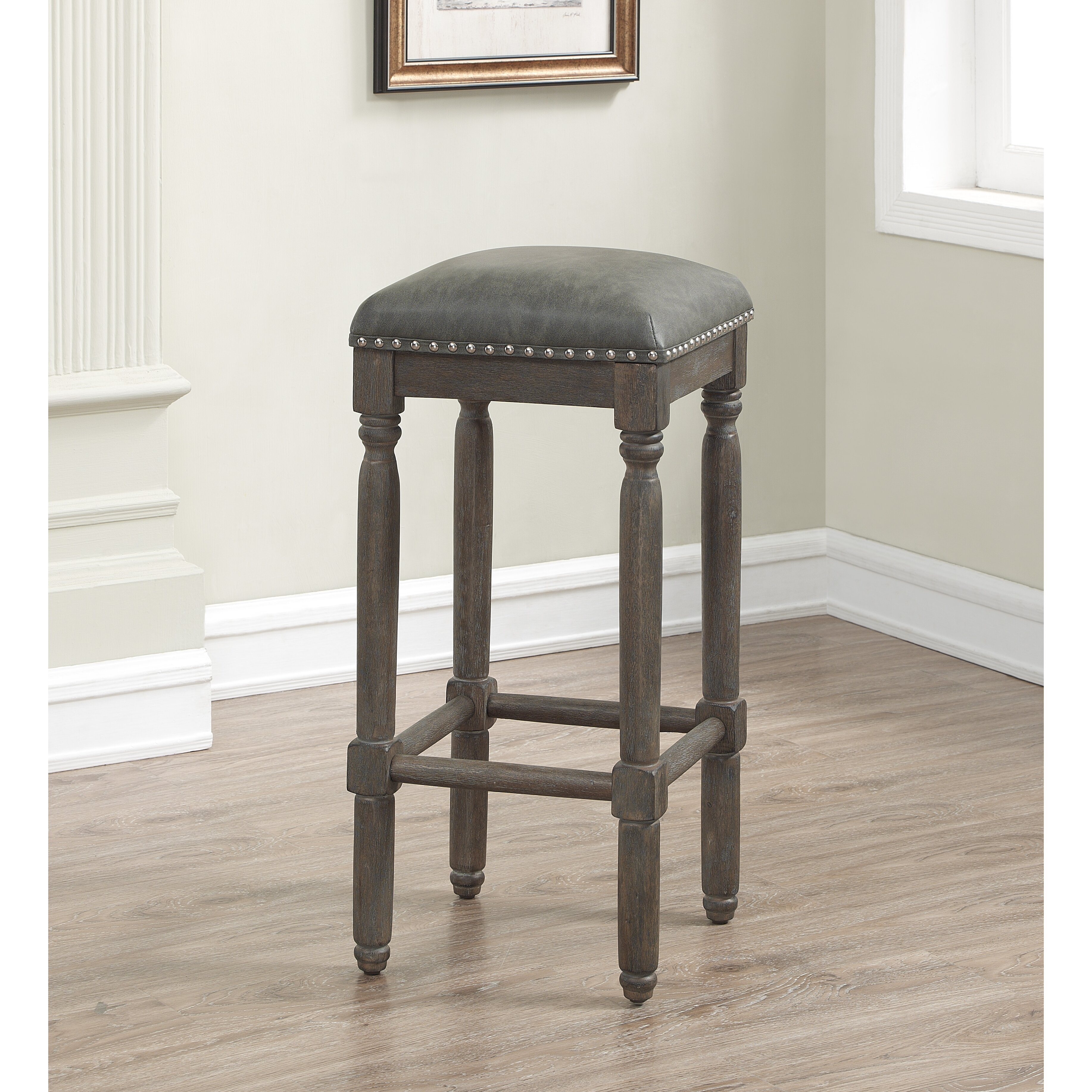 One Allium Way Jeanlouis Backless 26 Quot Counter Stool