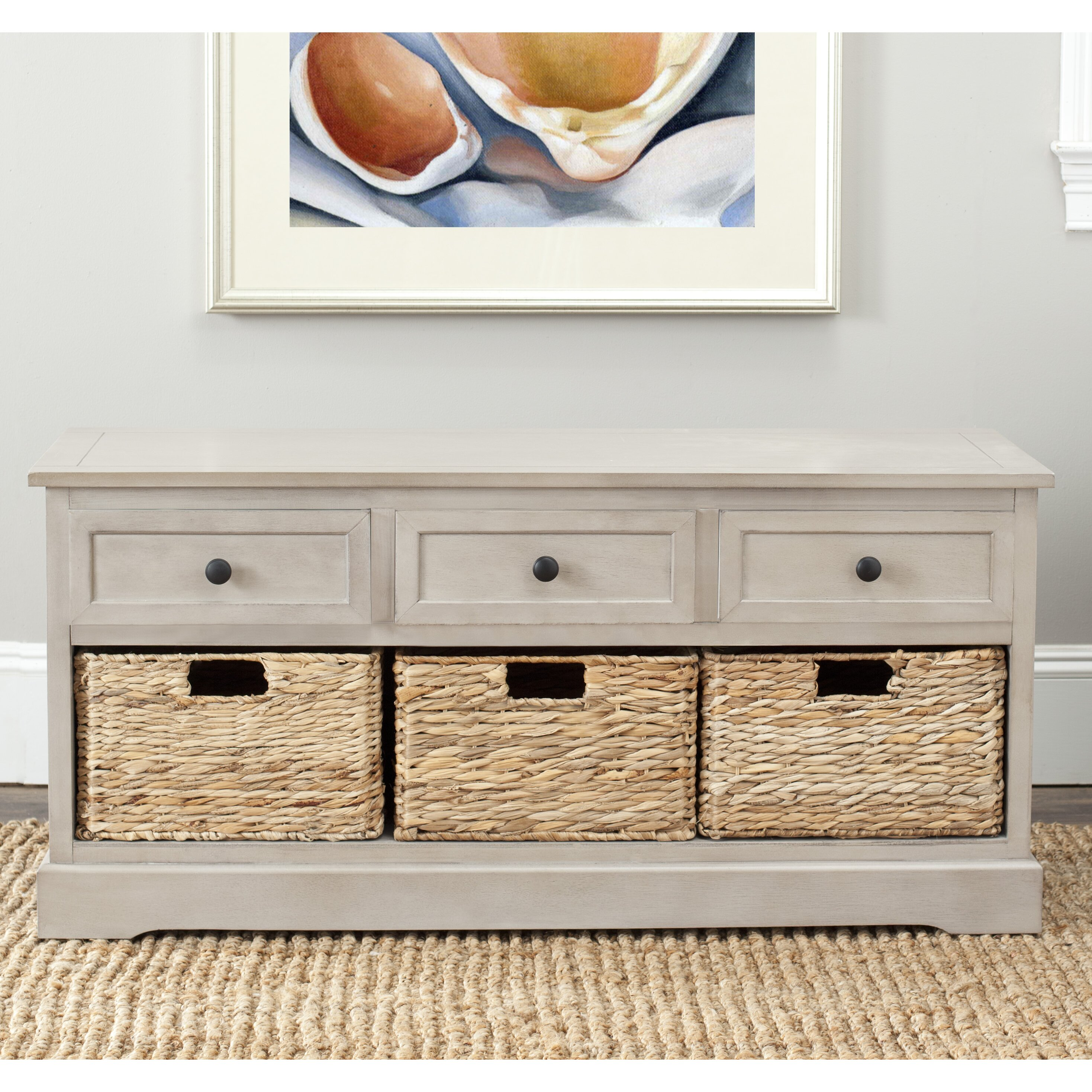 Foyer Storage Drawers : Beachcrest home mckinley drawer storage entryway bench