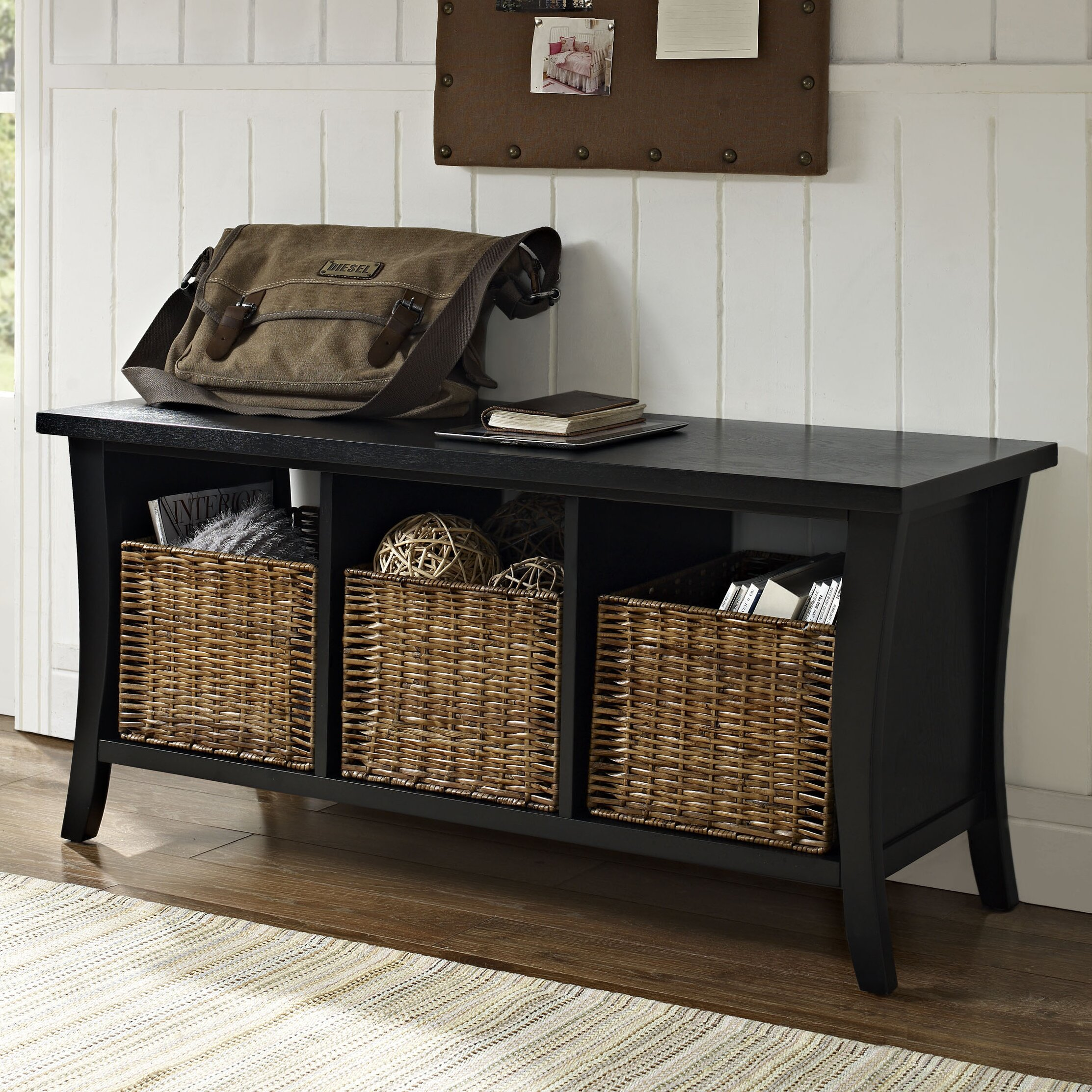 Foyer Mudroom Review : Beachcrest home lewisetta entryway storage bench reviews