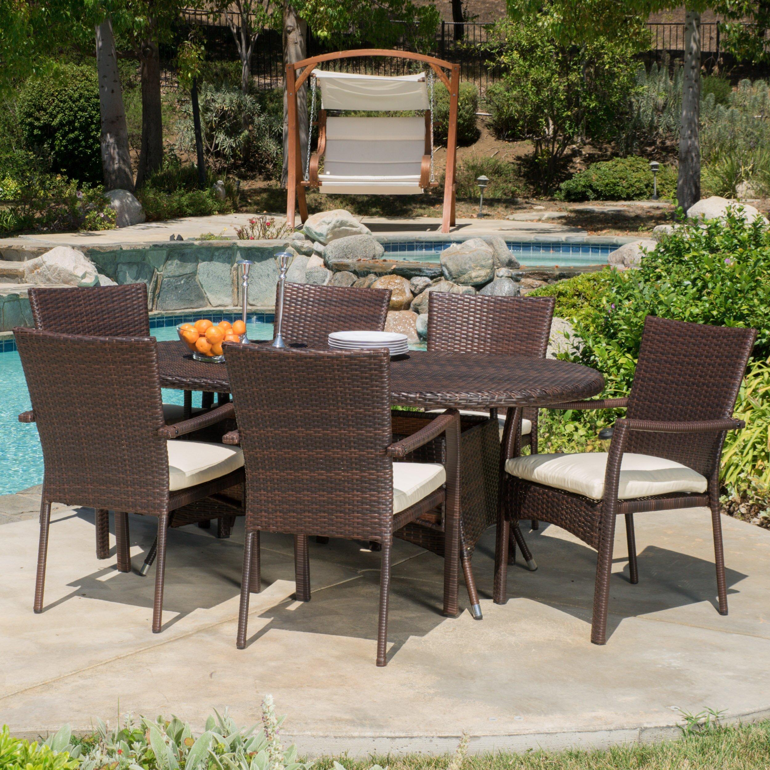Patio Furniture Brandon Fl: Beachcrest Home Brandon 7 Piece Dining Set With Cushions