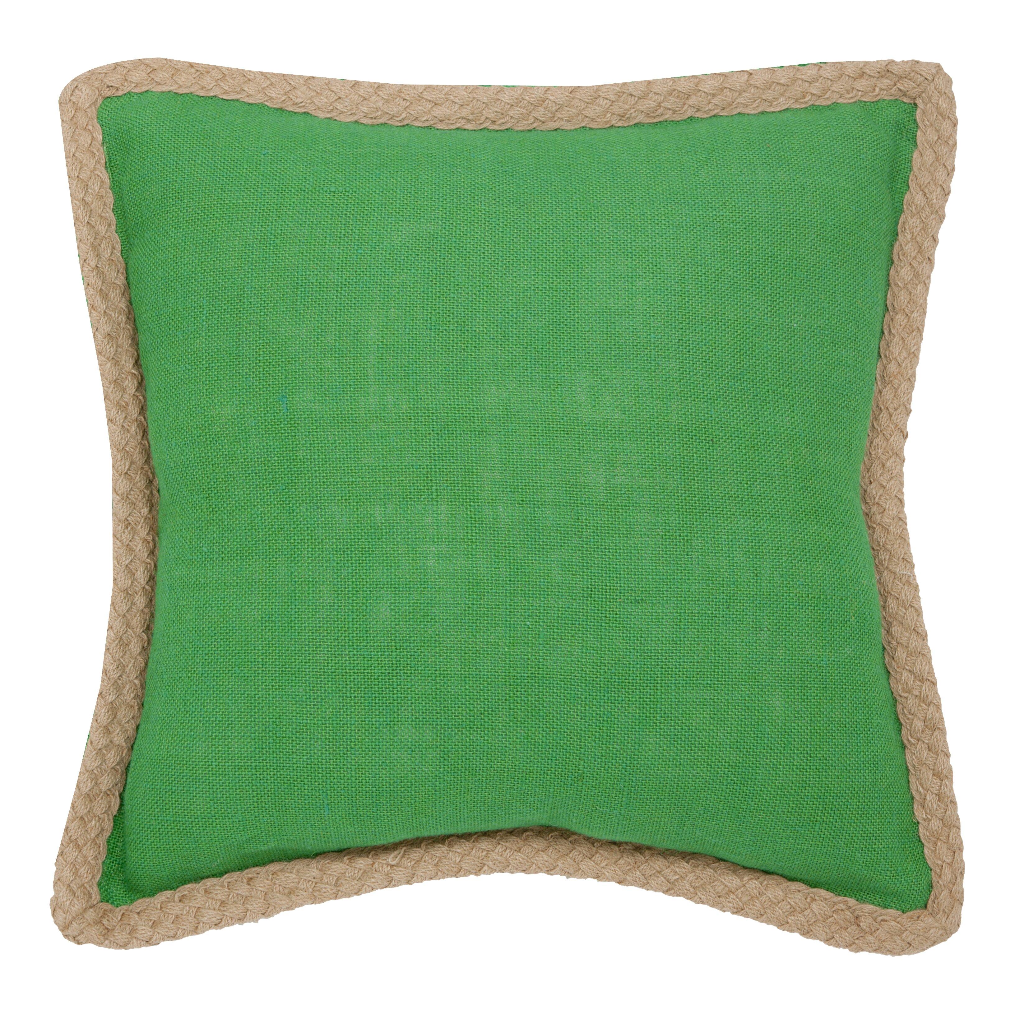 Jute Decorative Pillows : Beachcrest Home Yorkton Jute Fiber Cotton Throw Pillow & Reviews Wayfair
