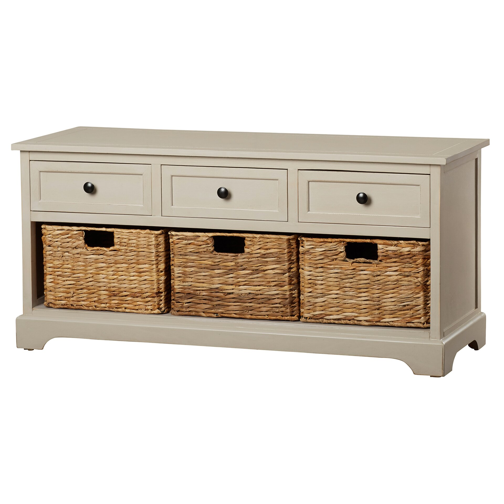 Beachcrest home mckinley 3 drawer storage entryway bench reviews wayfair Bench with shelf