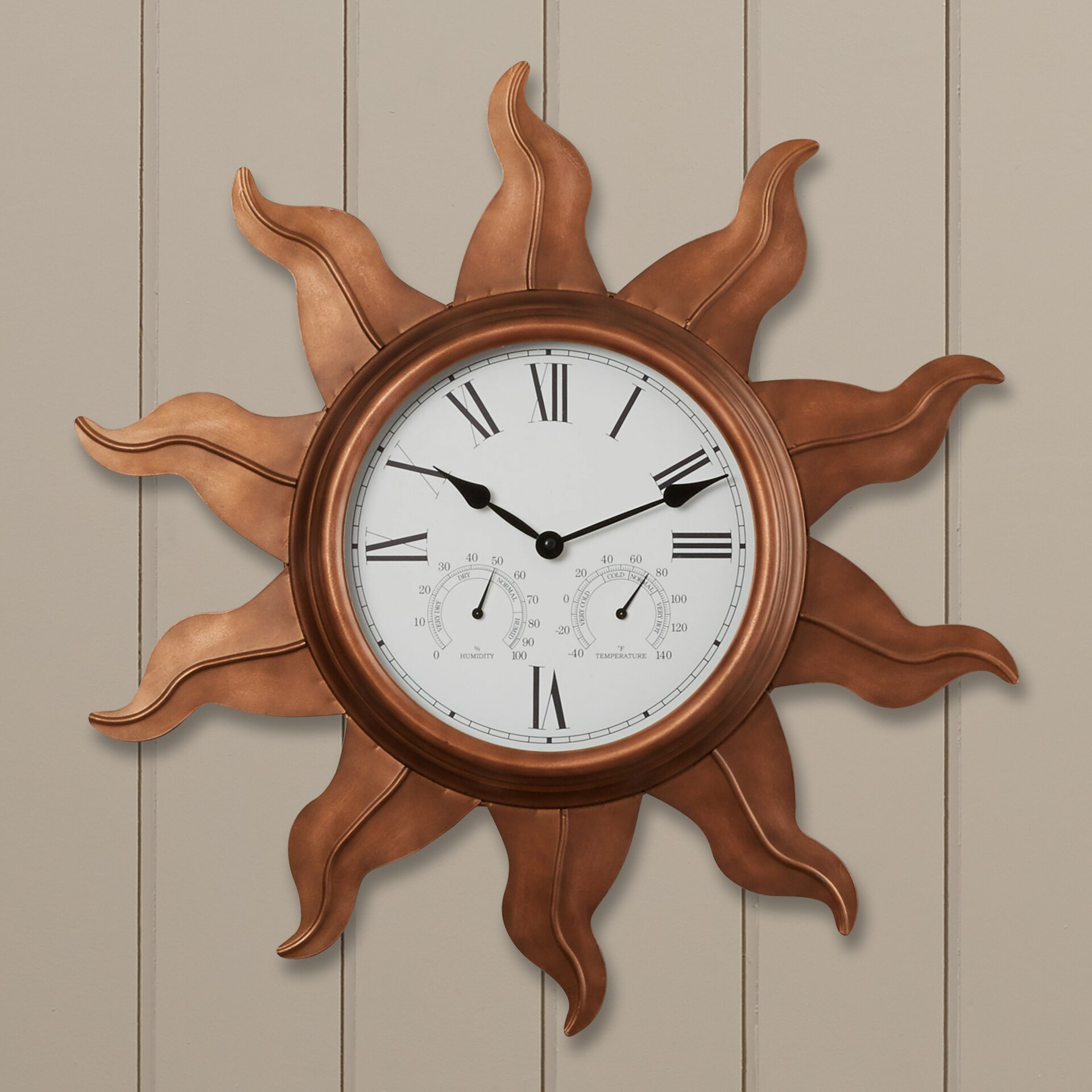 beachcrest home manasota 24 indoor outdoor wall clock
