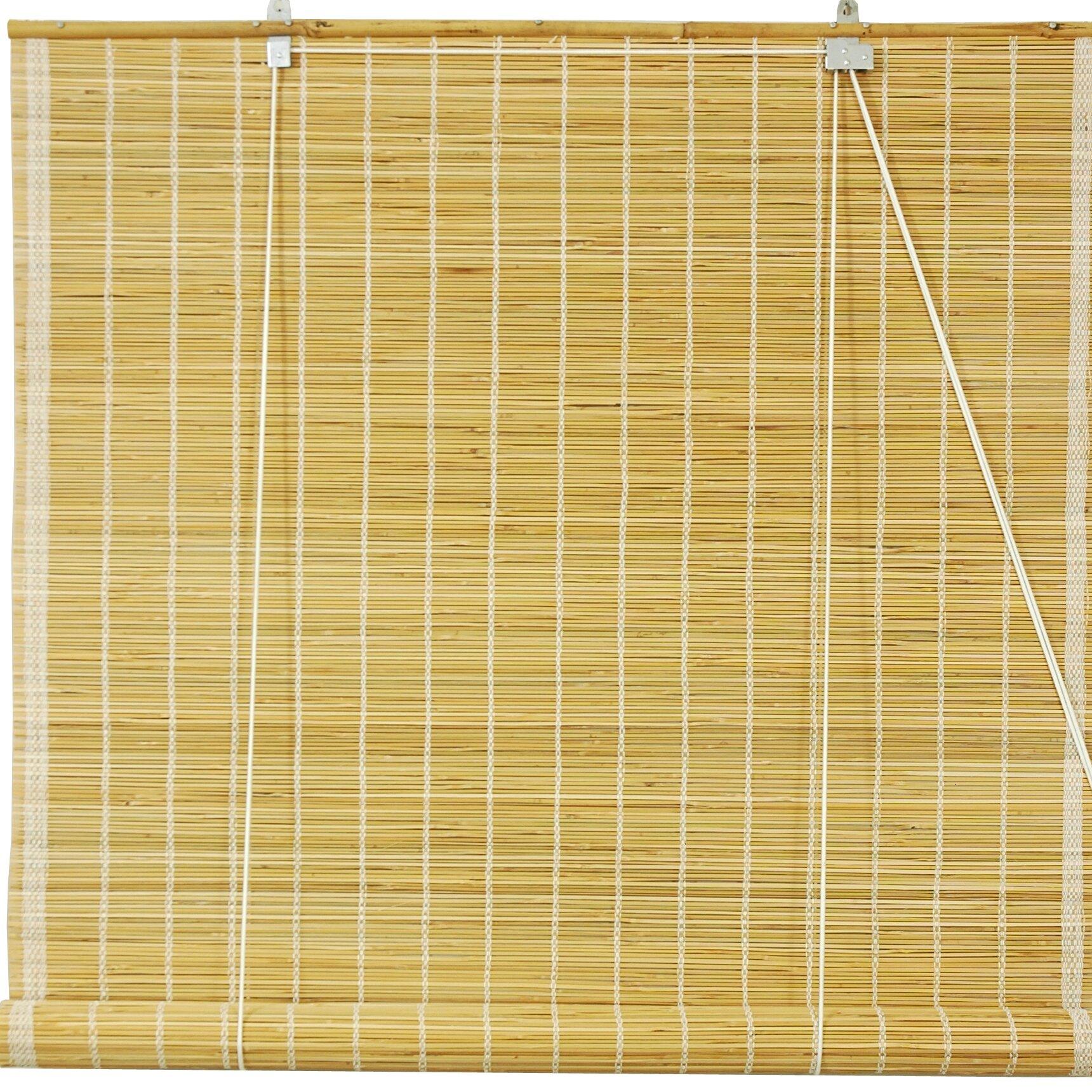 Beachcrest home matchstick roll up shade reviews wayfair for Bamboo roller shades ikea