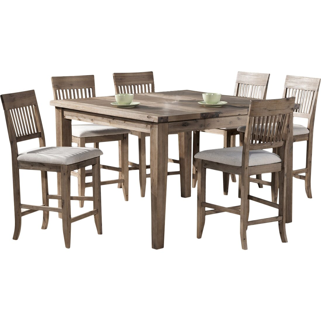 Beachcrest home casco 7 piece dining set reviews wayfair for Furniture 7 reviews