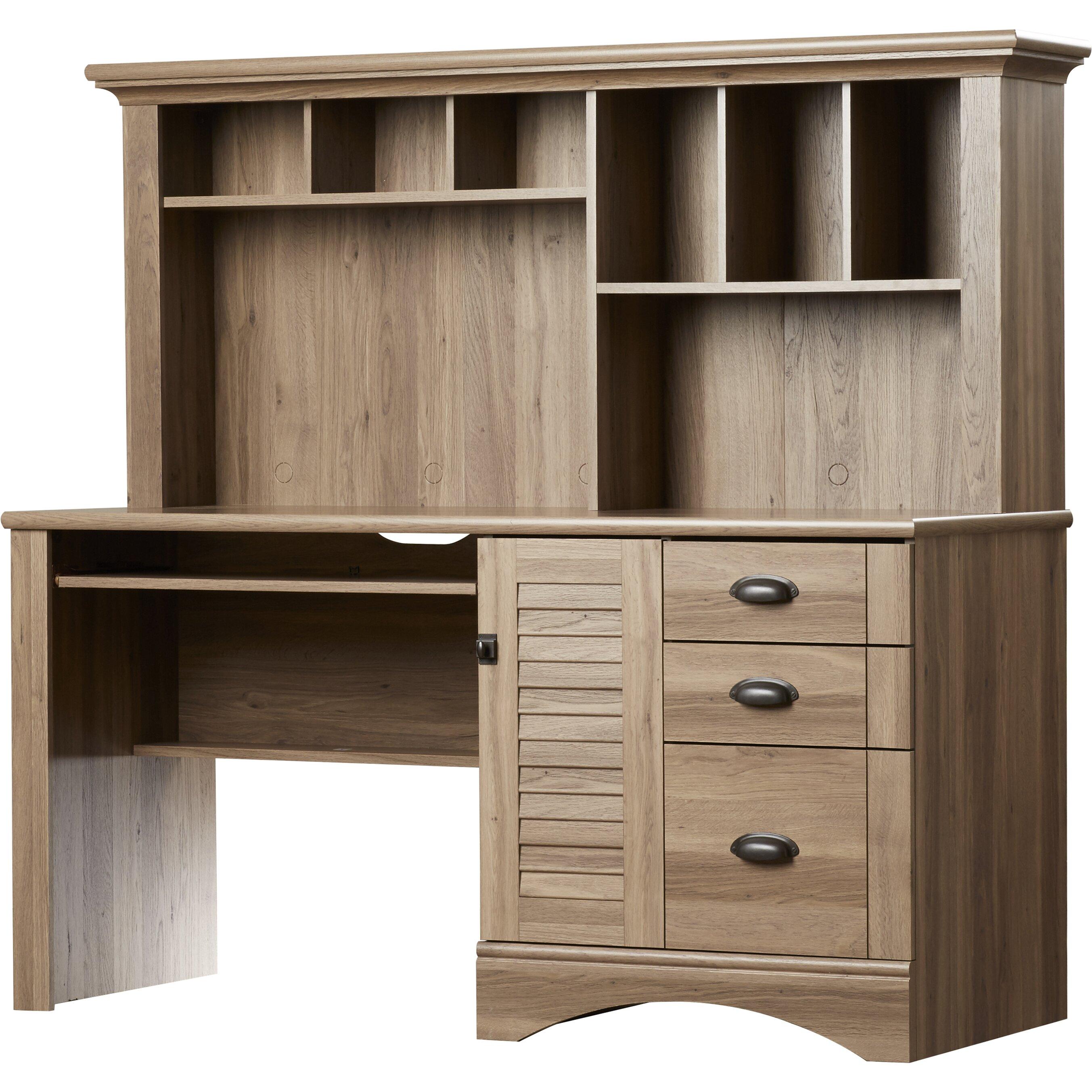 beachcrest home pinellas computer desk with hutch 3. Black Bedroom Furniture Sets. Home Design Ideas