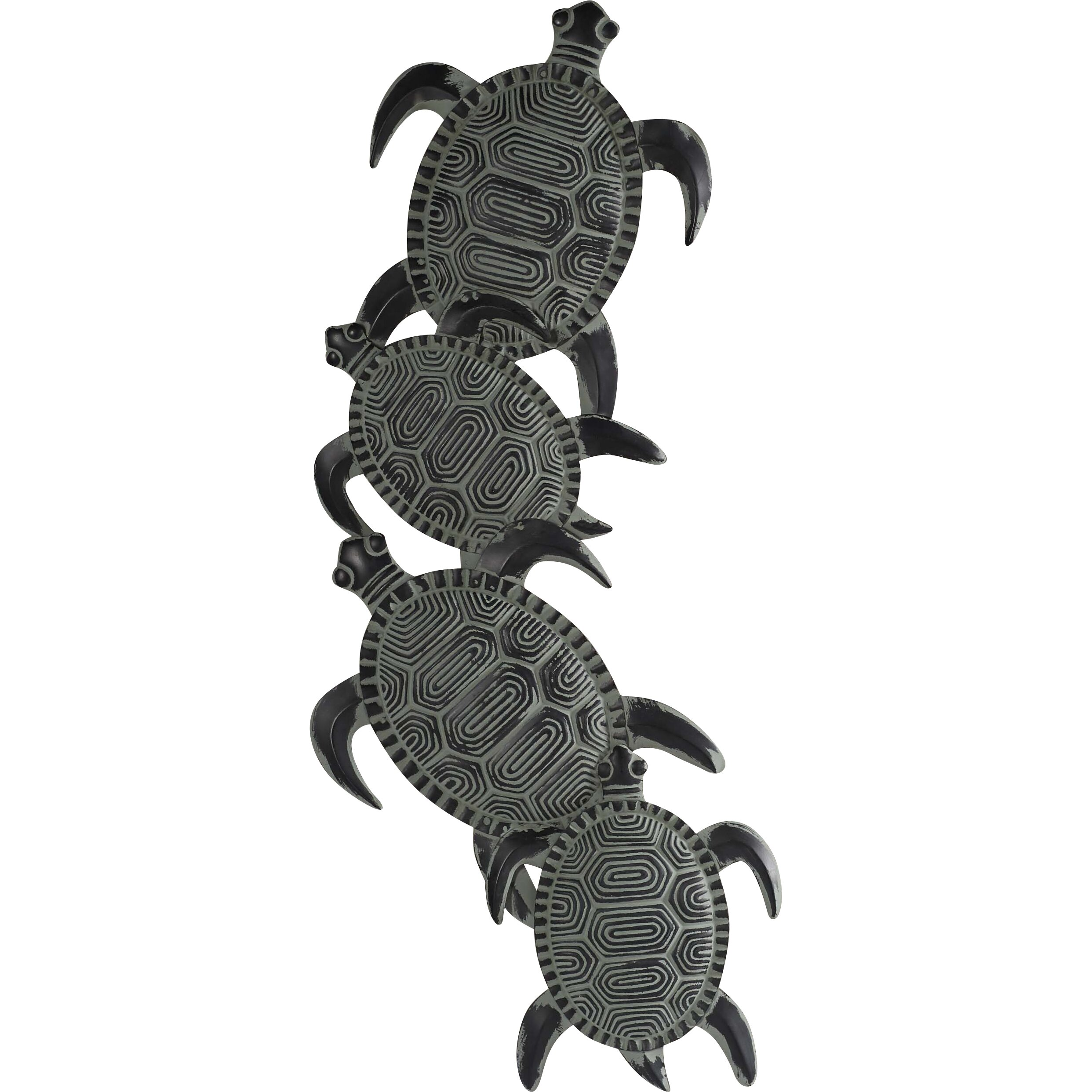 Beachcrest home rhys turtle decor wall d cor reviews for Turtle decorations for home