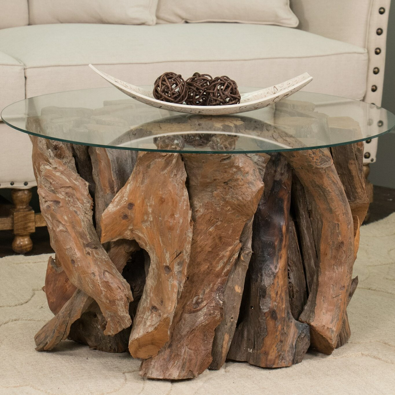 Beachcrest Home Manattee Road Driftwood Coffee Table Base Wayfair