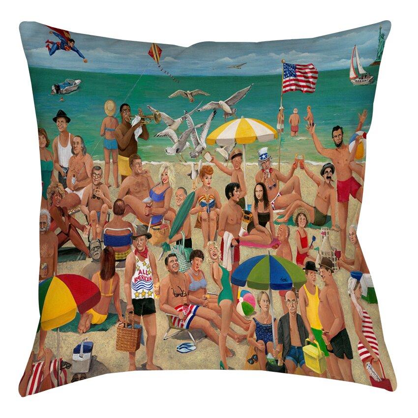 Inexpensive Beach Throw Pillows : Beachcrest Home Whisper Walk Beach Printed Throw Pillow & Reviews Wayfair