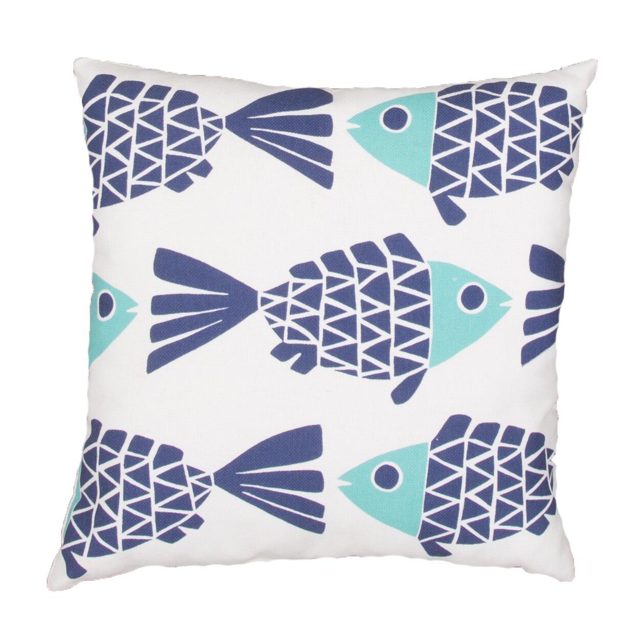 Beachcrest Home Lake Sarasota Animal Print Indoor/Outdoor Throw Pillow & Reviews Wayfair