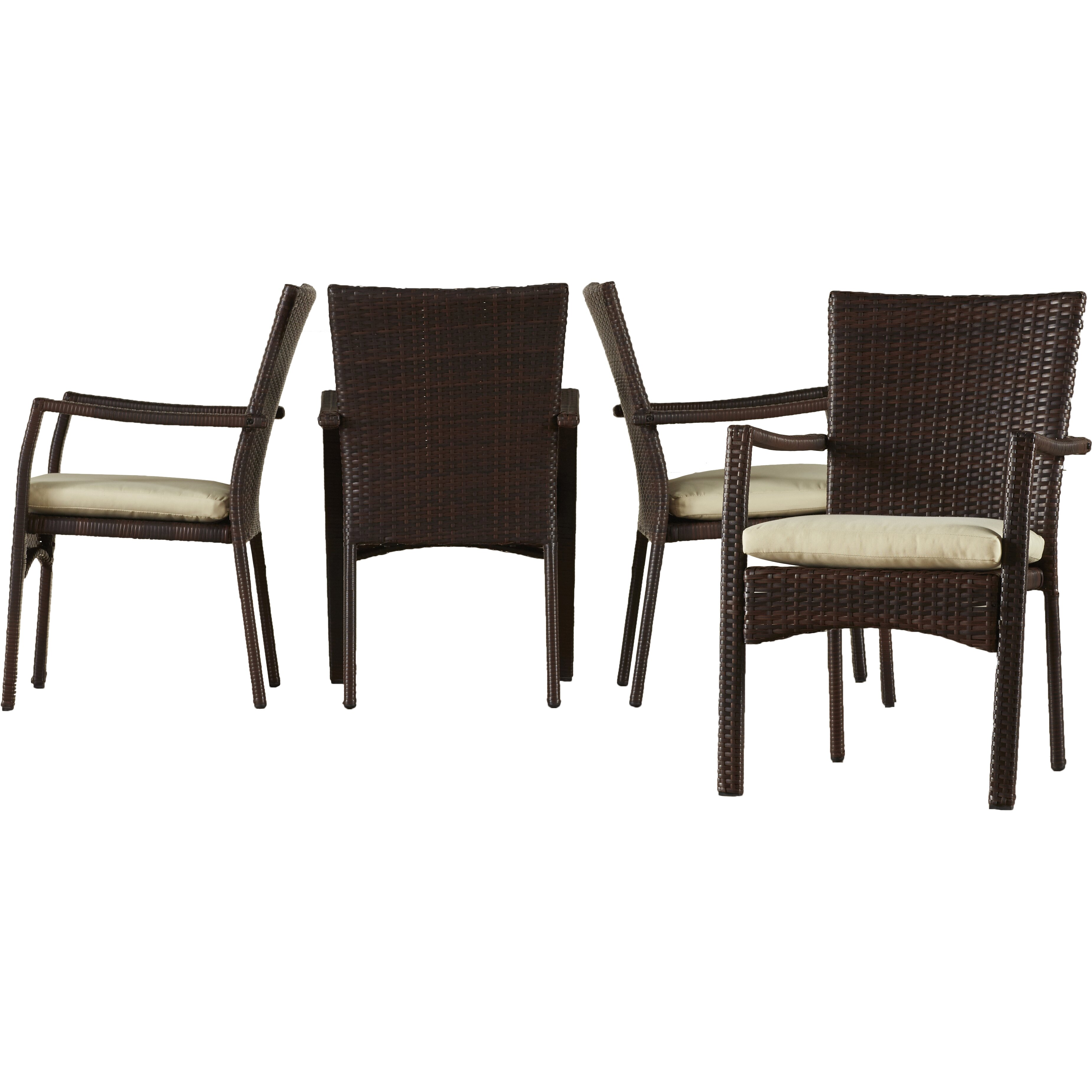 Beachcrest home brandon 5 piece dining set with cushion for Home piece