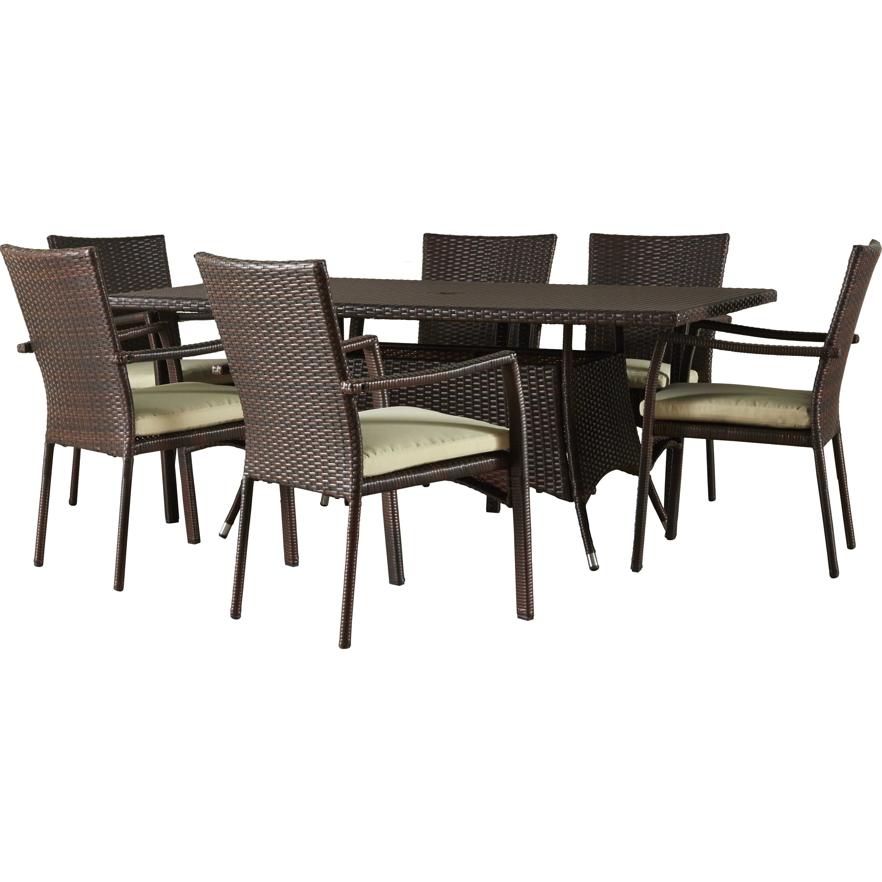 Beachcrest home lakewood park 7 piece dining set with for 7 piece dining set