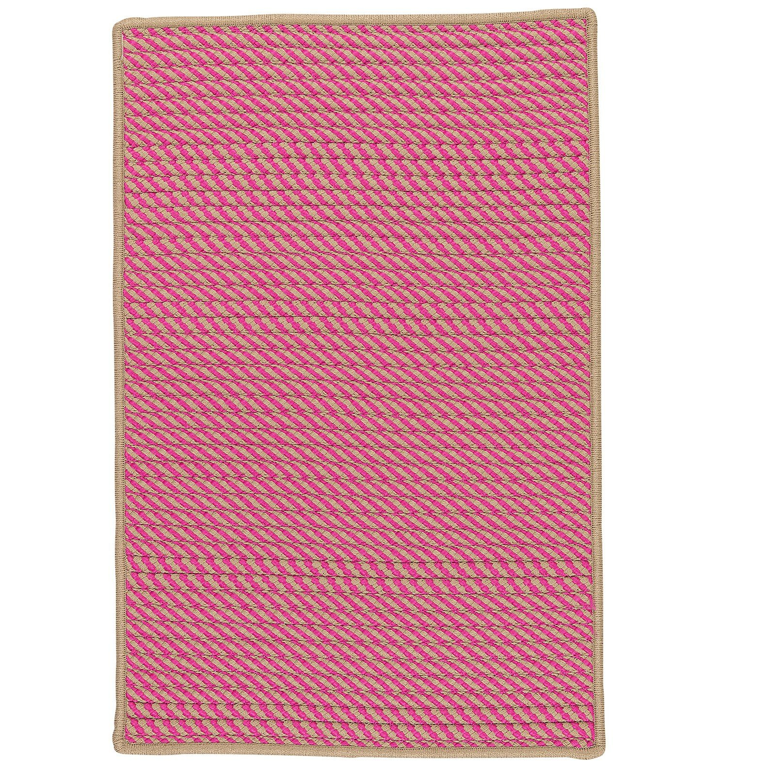 Beachcrest Home Russell Hand Woven Pink Indoor Outdoor