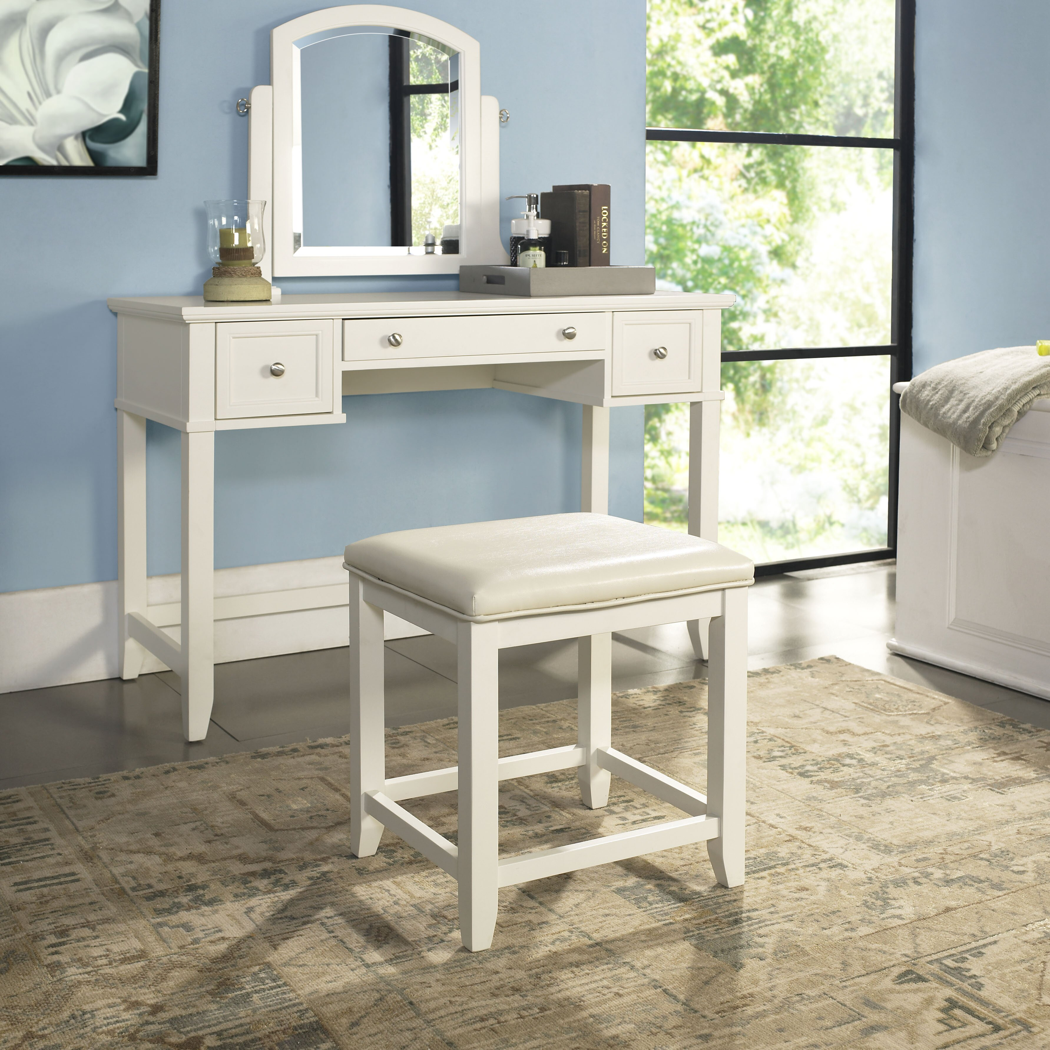 Beachcrest Home Gotha 3 Light Vanity Light Reviews: Beachcrest Home Manette Vanity Set With Mirror & Reviews