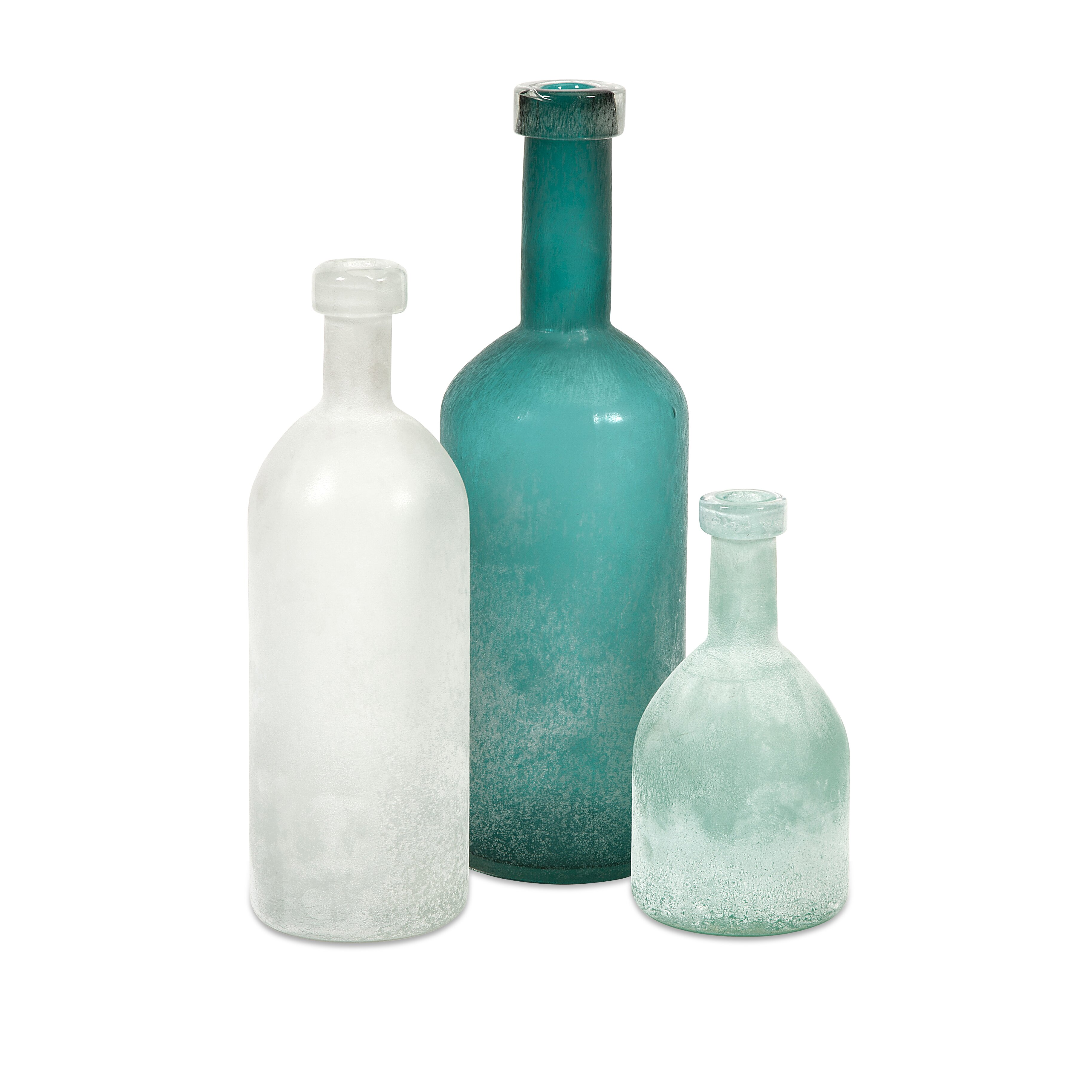 Decorative Vegetable Jars: Beachcrest Home 3 Piece Russell Handblown Glass Decorative