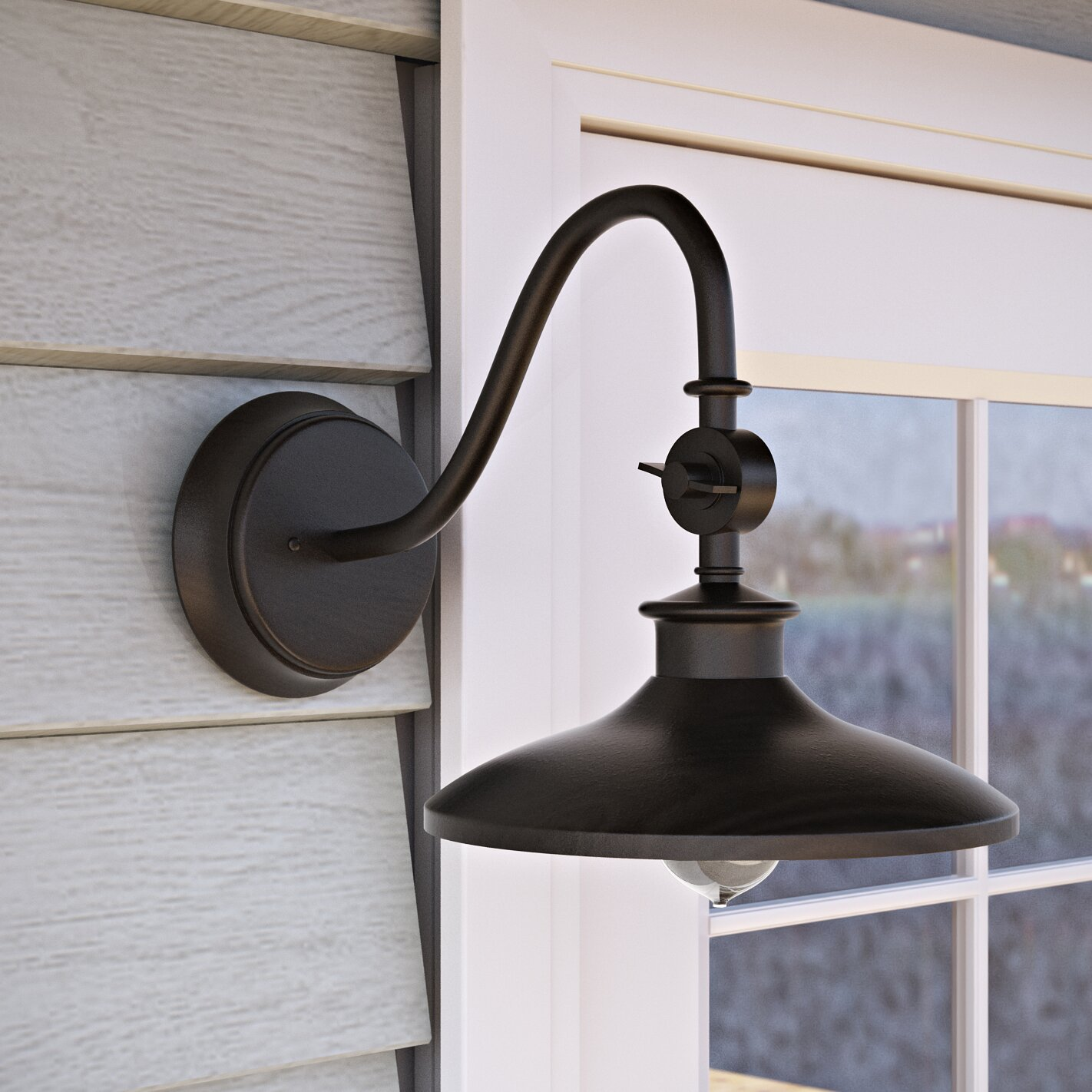 beachcrest home tennyson 1 light outdoor barn light reviews