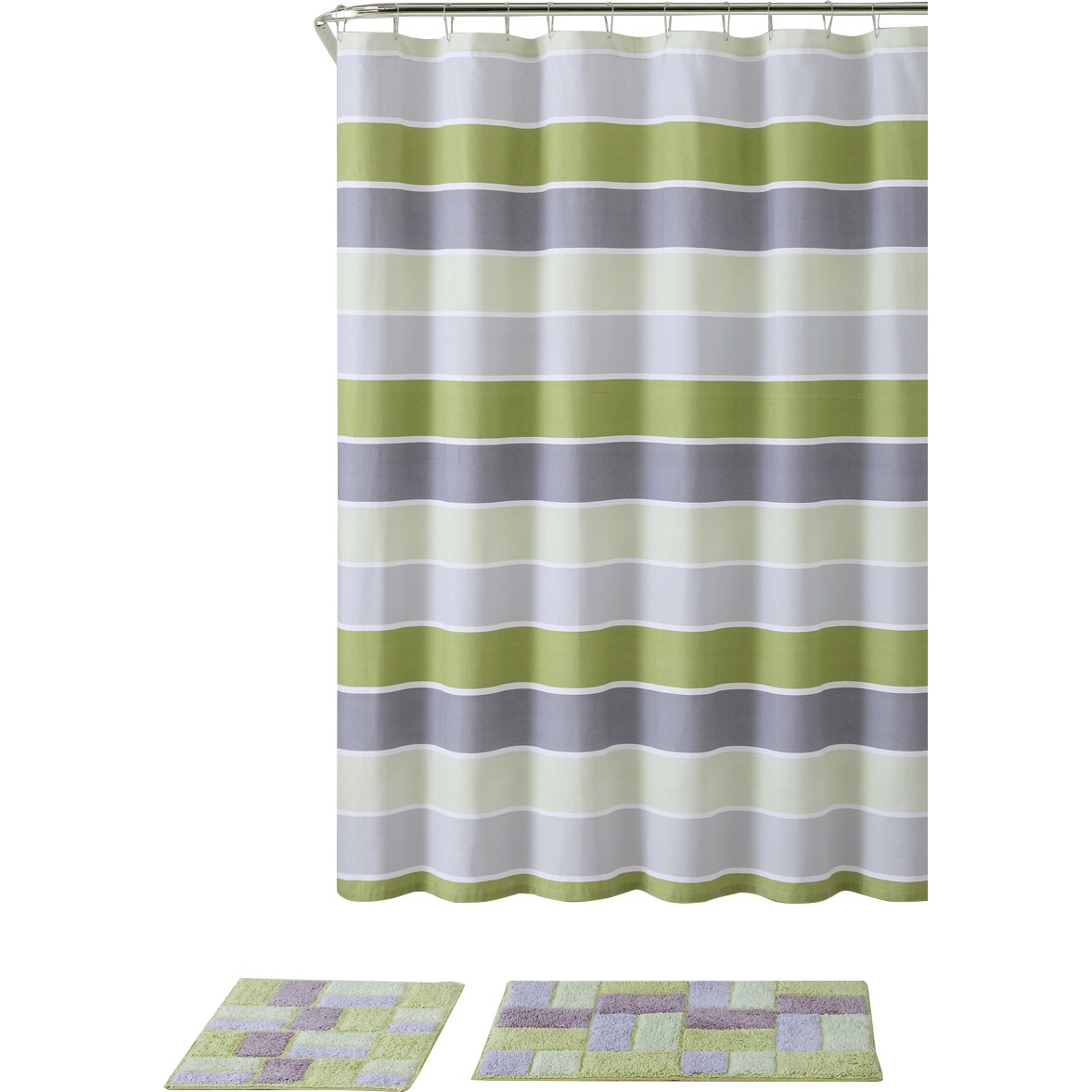 Hamilton 3 Piece Kitchen Curtain Set Available In 4: Beachcrest Home Rawlings 3 Piece Shower Curtain Set