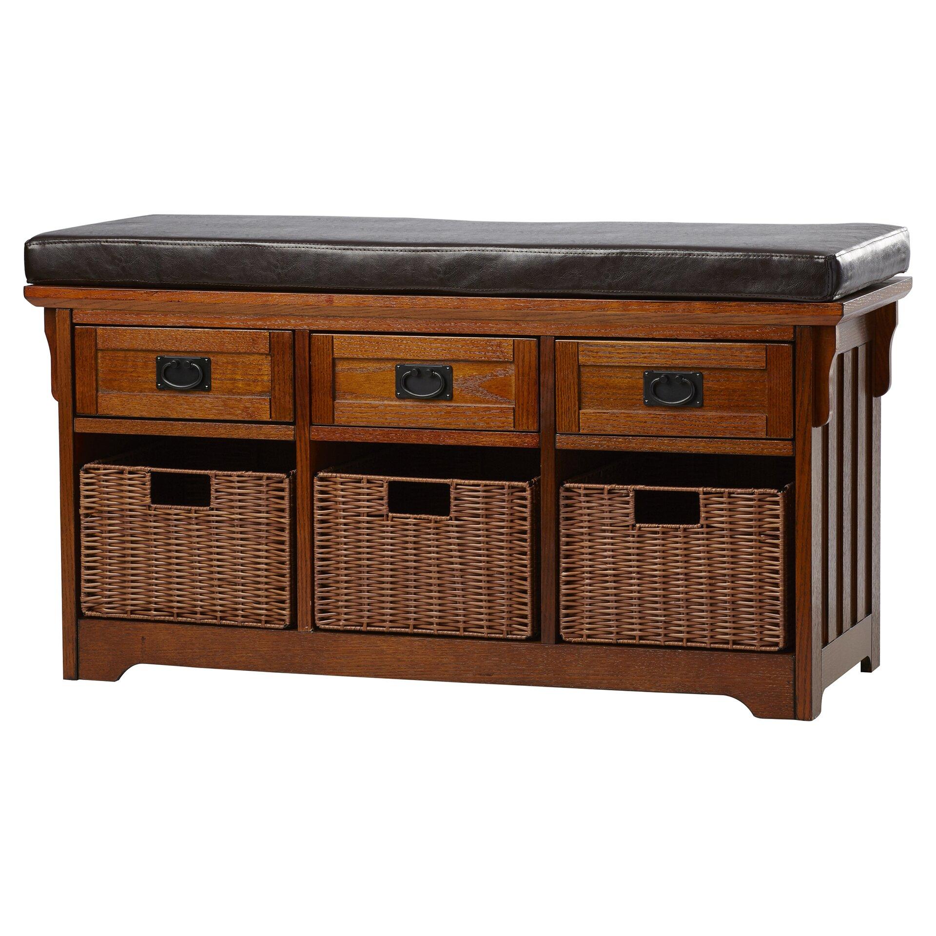 Loon Peak Hemlock Wooden Entryway Storage Bench Reviews Wayfair