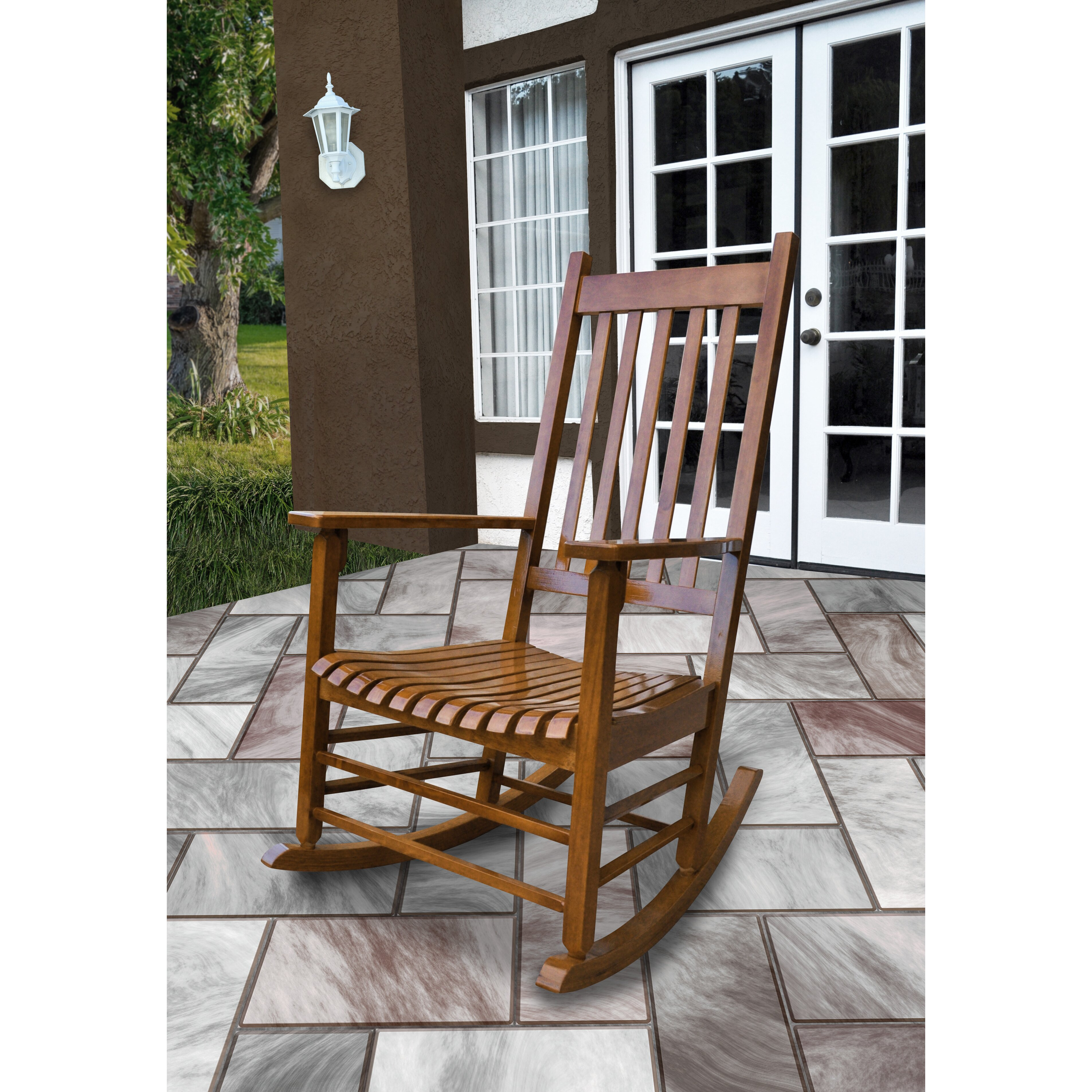 Outdoor Patio Furniture ... Wood Patio Rocking Chairs & Gliders Loon ...