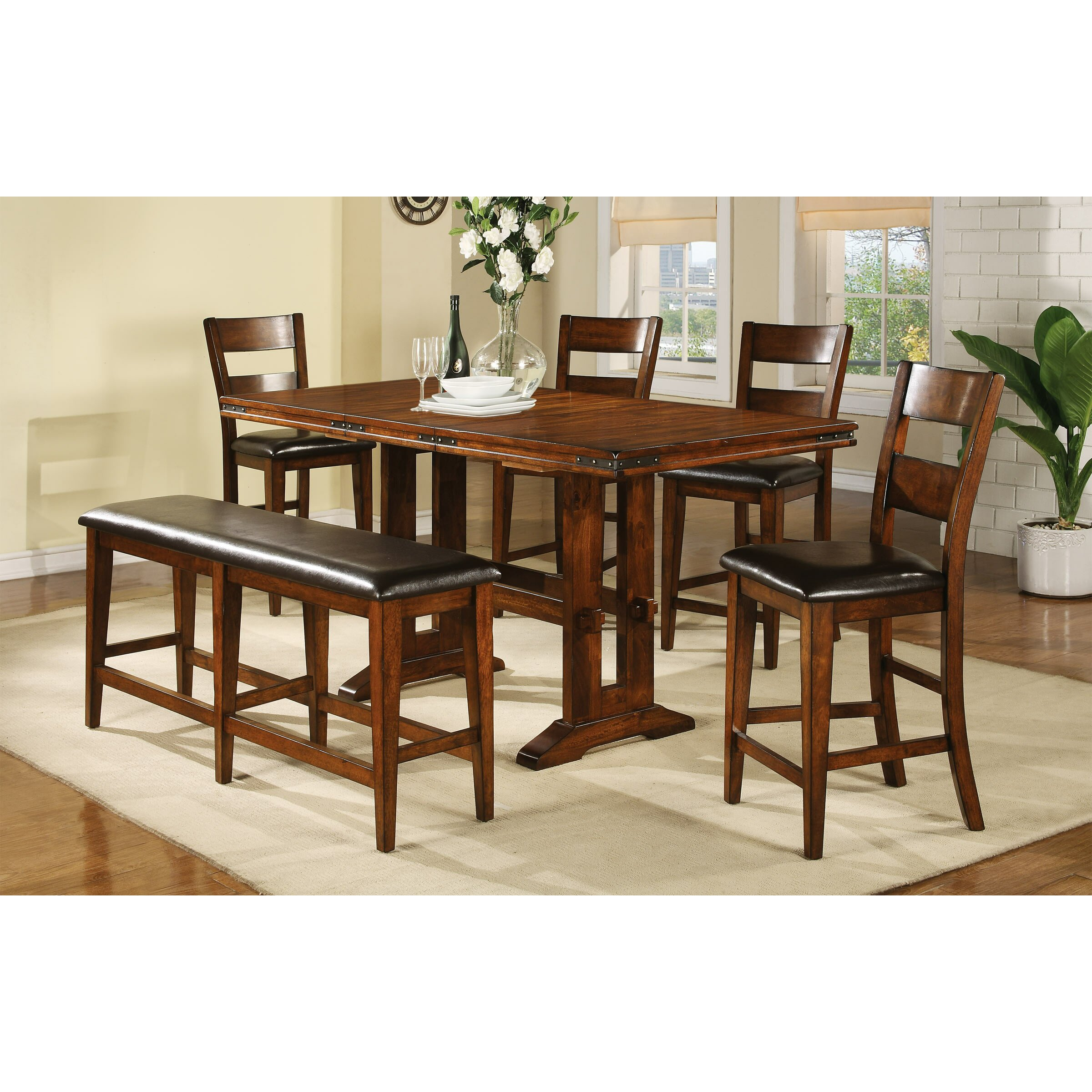 Loon Peak Agatha Counter Height Extendable Dining Table  : Loon Peak Agatha Counter Height Extendable Dining Table LOON1761 from www.wayfair.com size 2400 x 2400 jpeg 623kB