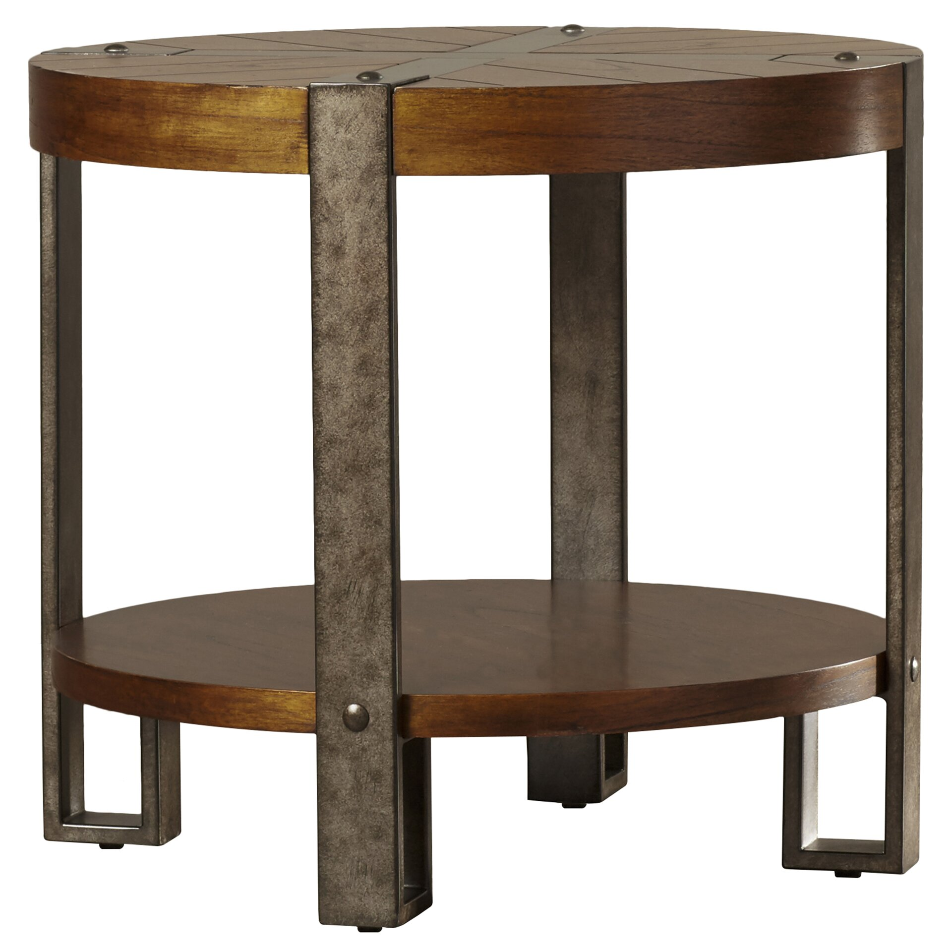 Loon peak gallatin round end table reviews wayfair for Table table