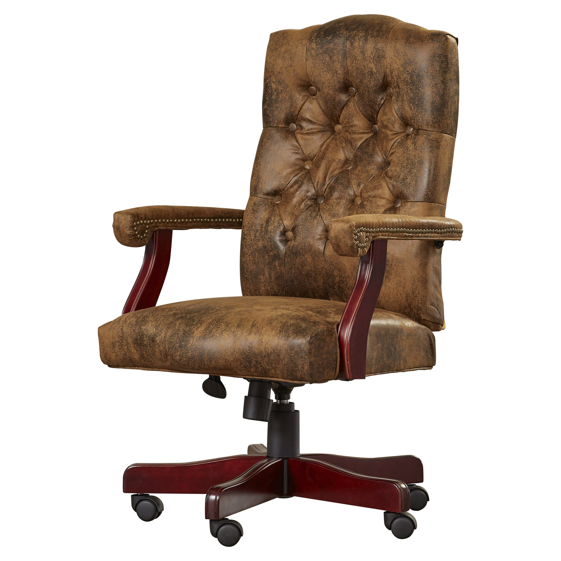 Loon peak hebbville high back executive office chair with Peak office furniture