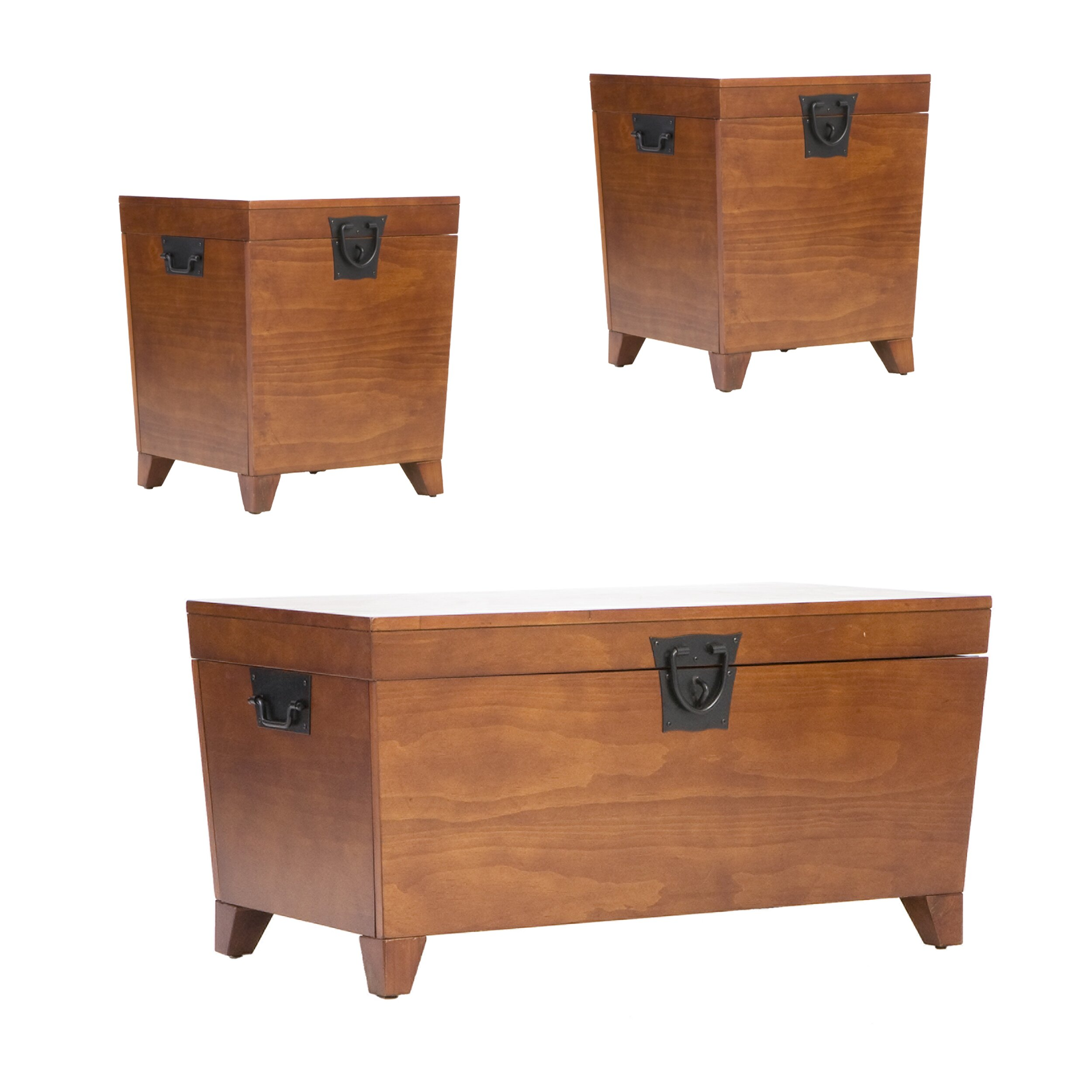Loon Peak Harrower 3 Piece Trunk Coffee Table Set Reviews Wayfair