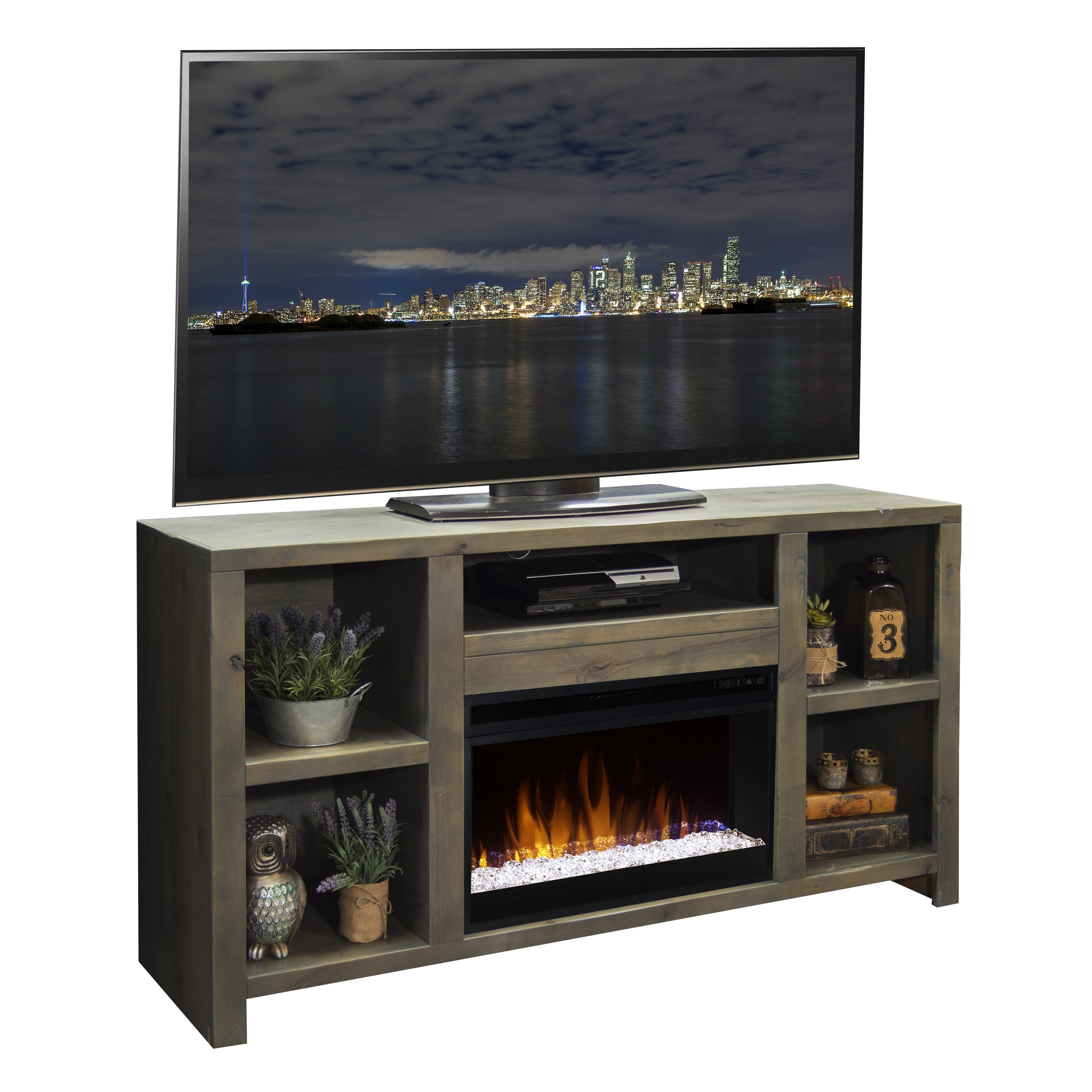 Loon Peak Cathryn TV Stand with Electric Fireplace