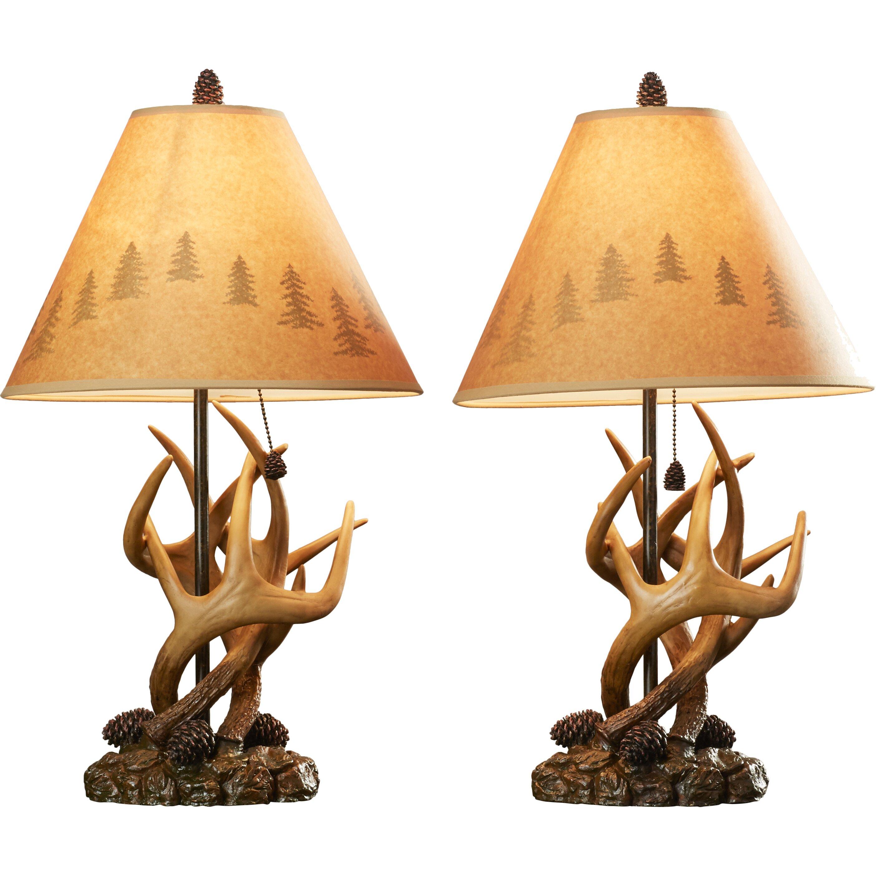 Loon Peak Littleton 24 Quot Table Lamps Set Of 2 Amp Reviews