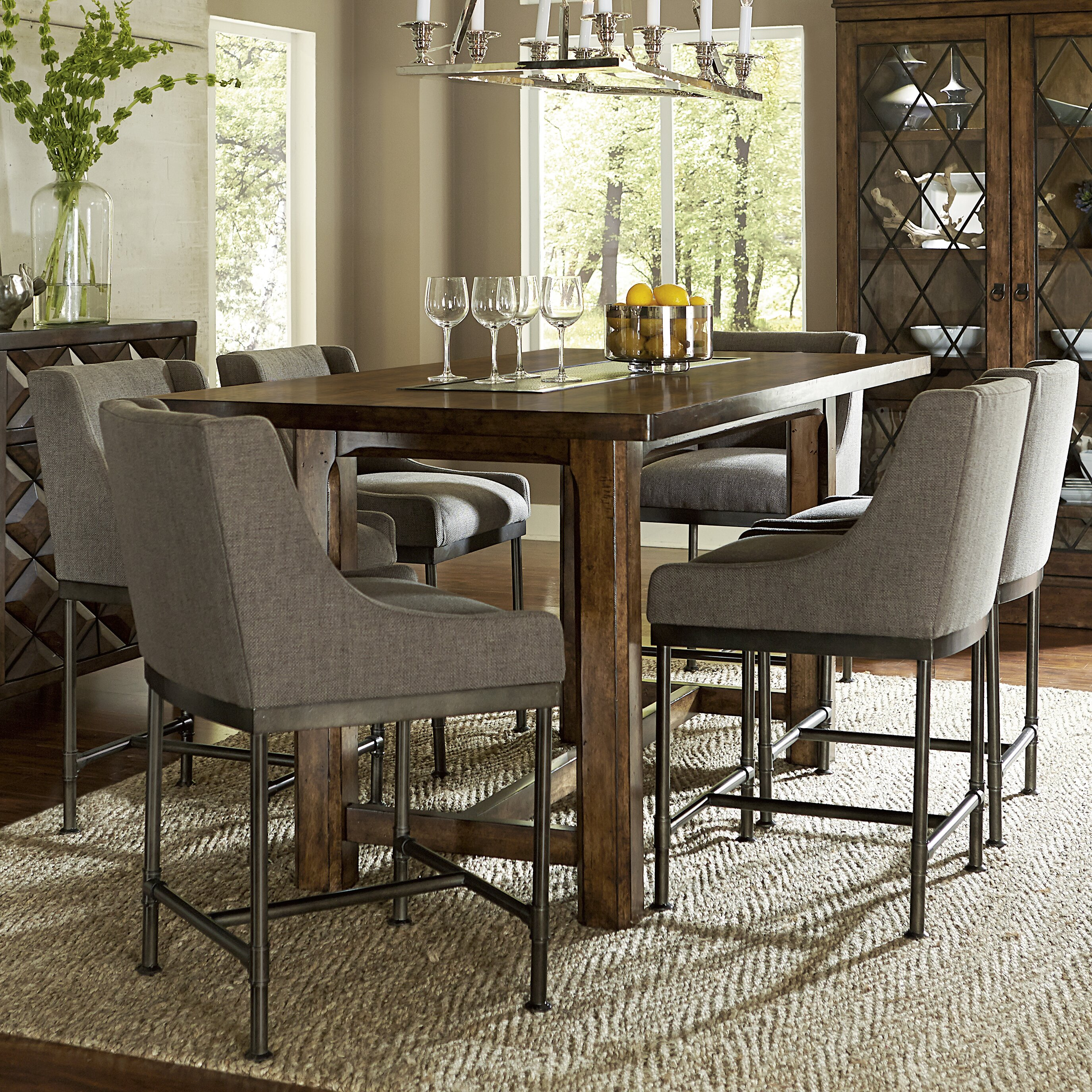 Loon peak segula counter height dining table wayfair for Best dining room table height