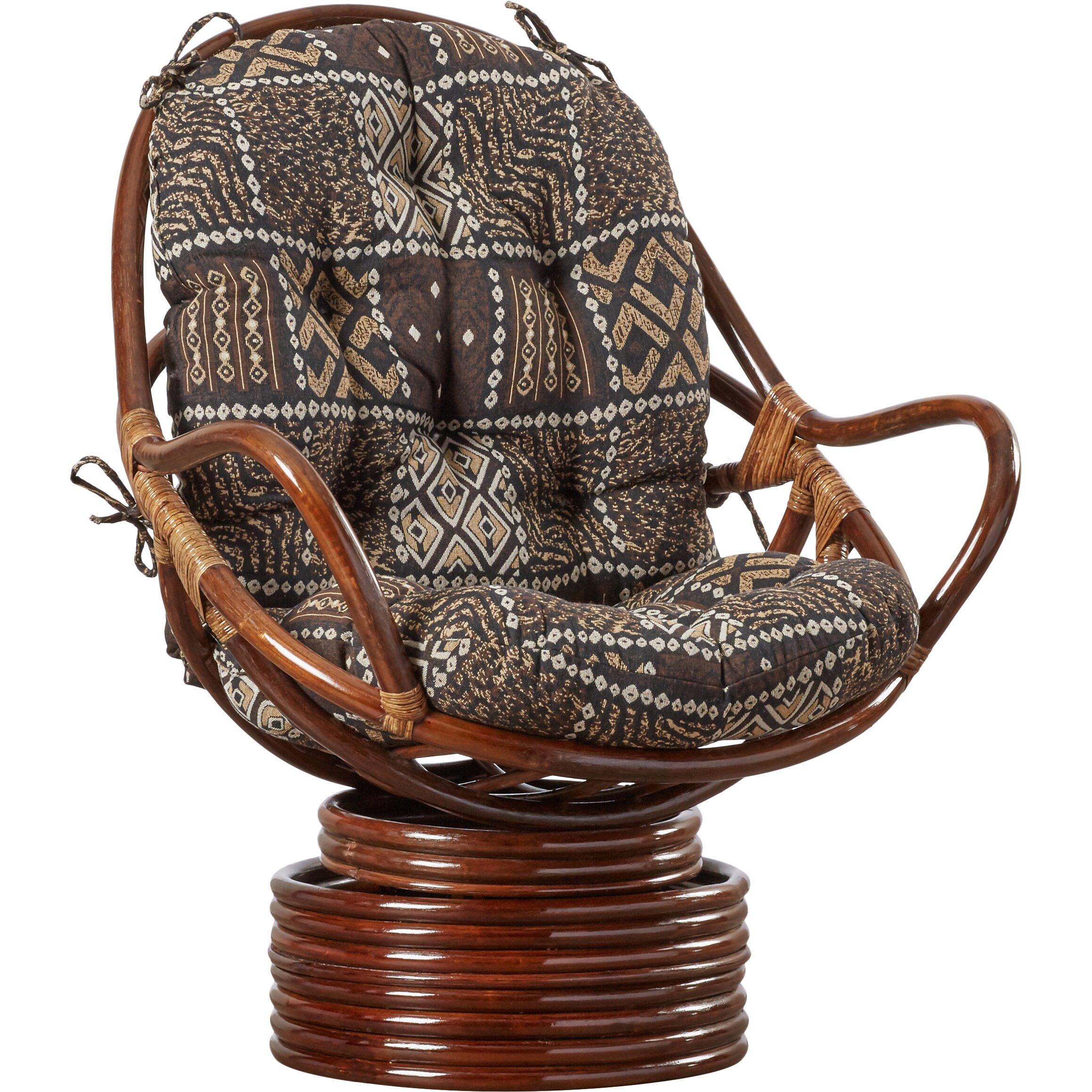 loon peak sandstone rattan swivel rocker reviews wayfair. Black Bedroom Furniture Sets. Home Design Ideas