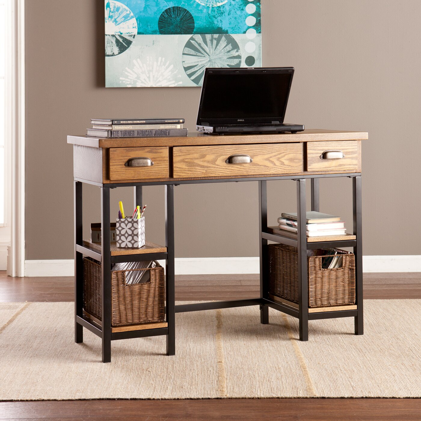 Loon peak tenleytown 3 drawer computer desk reviews Peak office furniture