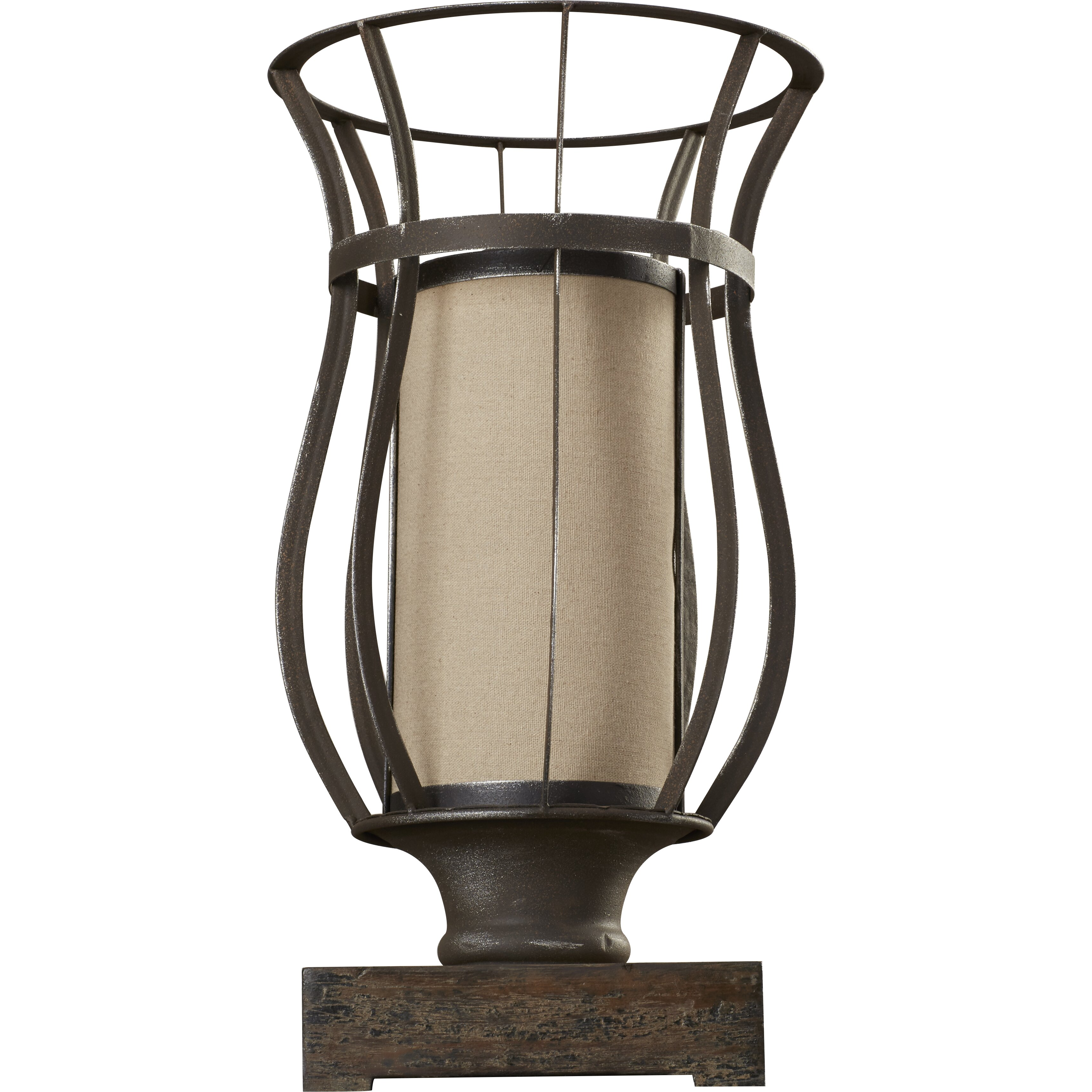 loon peak razoredge 18 table lamp with drum shade. Black Bedroom Furniture Sets. Home Design Ideas