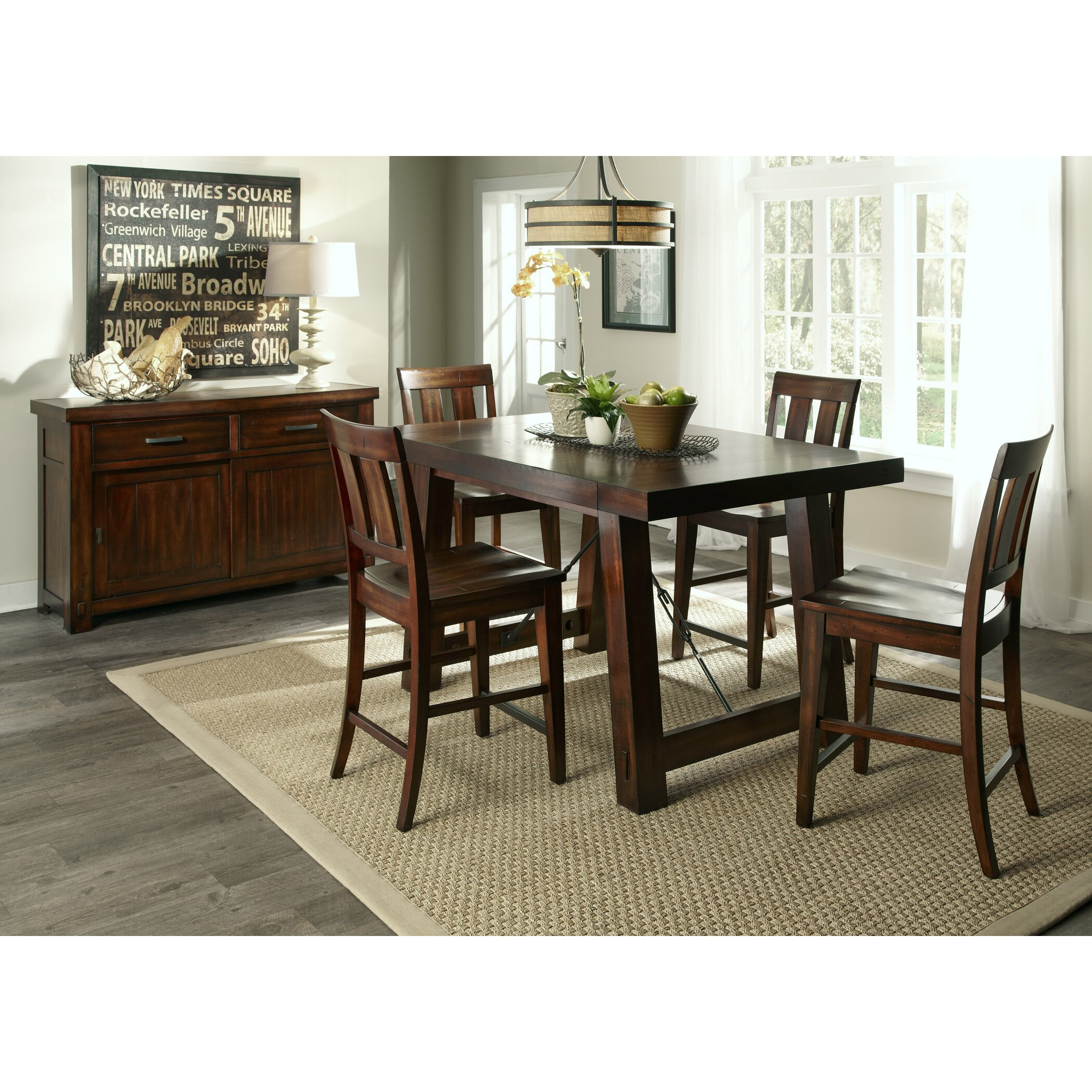 Loon Peak Haloke Counter Height Extendable Dining Table  : Loon Peak Haloke Counter Height Extendable Dining Table LOON4648 from www.wayfair.com size 2100 x 2100 jpeg 949kB
