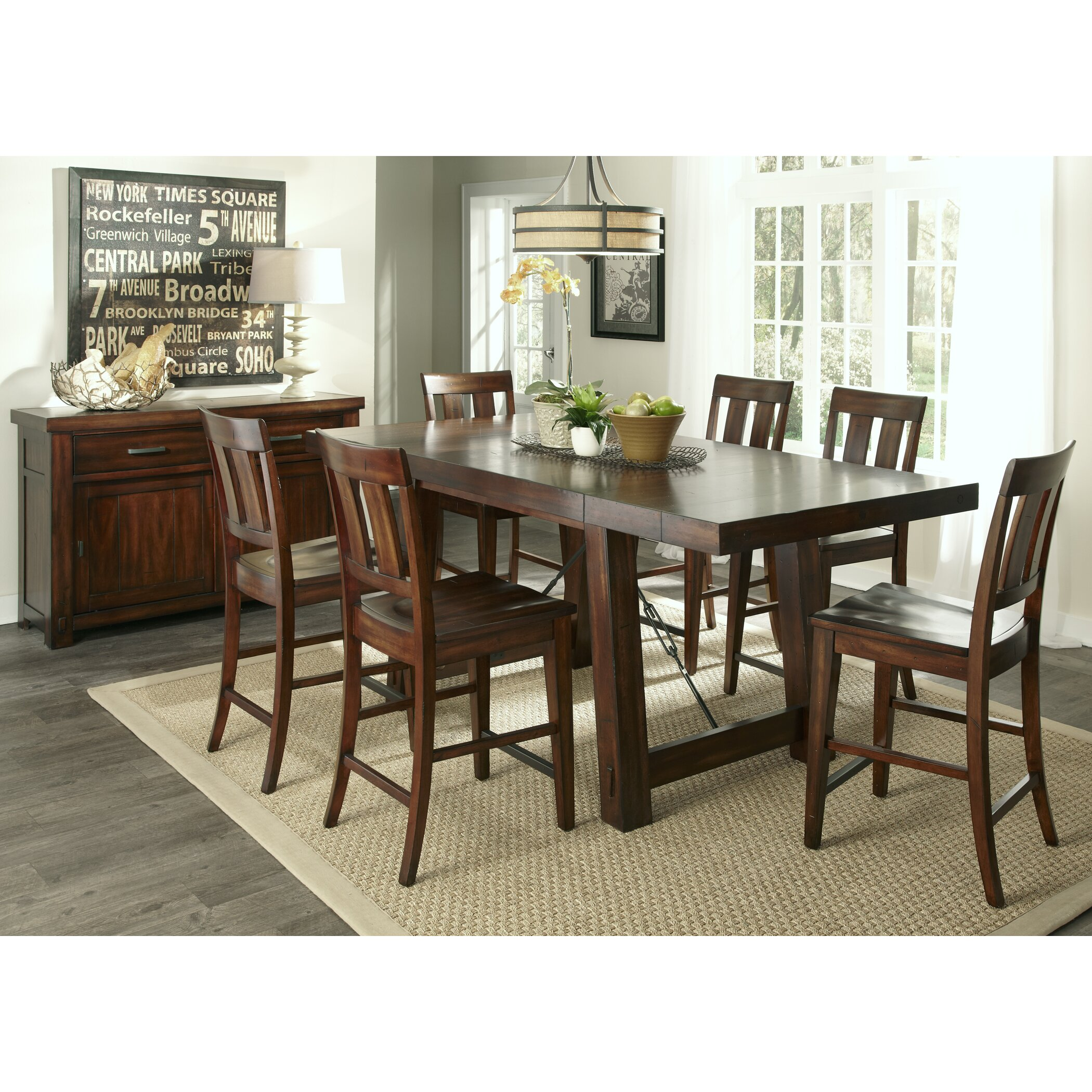 Loon Peak Haloke Counter Height Extendable Dining Table  : Loon Peak Haloke Counter Height Extendable Dining Table LOON4648 from www.wayfair.com size 2100 x 2100 jpeg 985kB