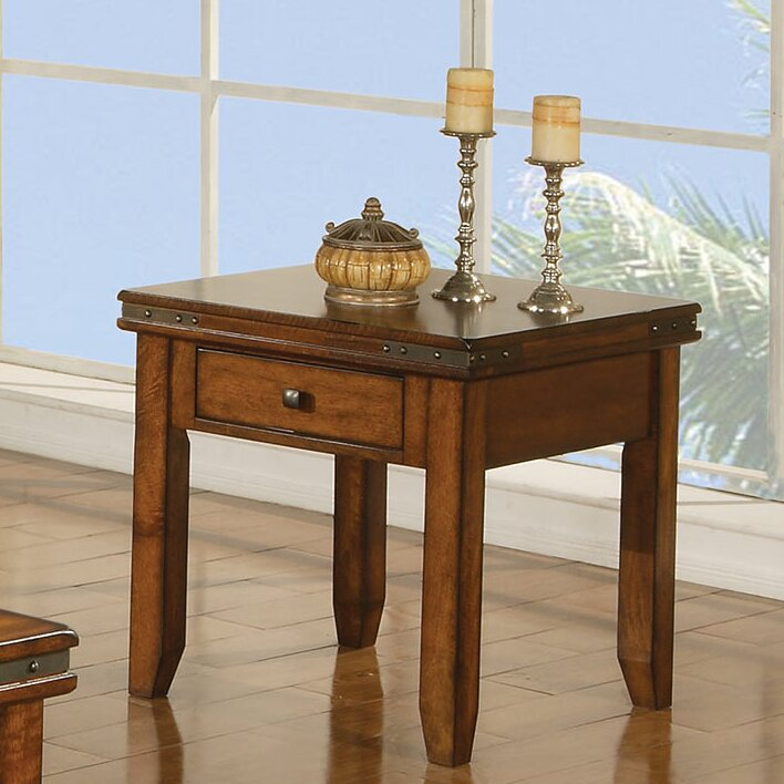 Loon peak wray end table with drawer reviews wayfair for C table with drawer