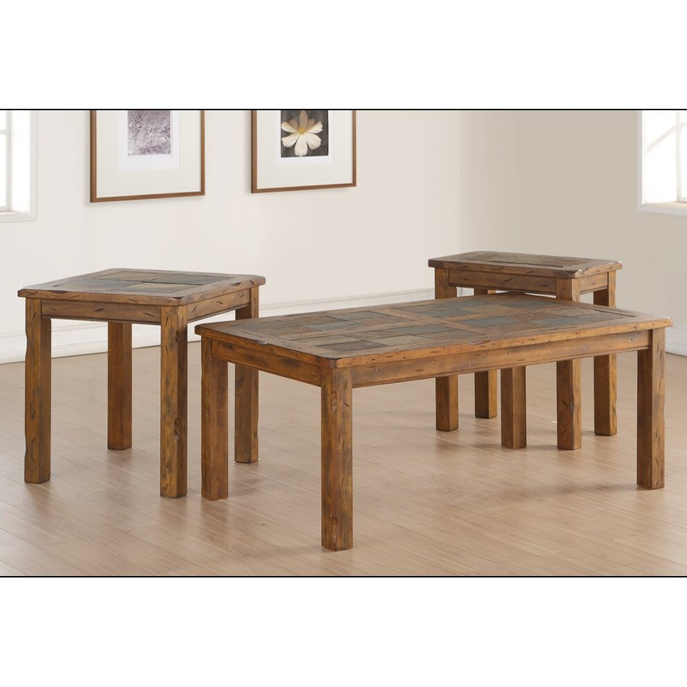 Loon Peak Fraser Coffee Table Set Wayfair