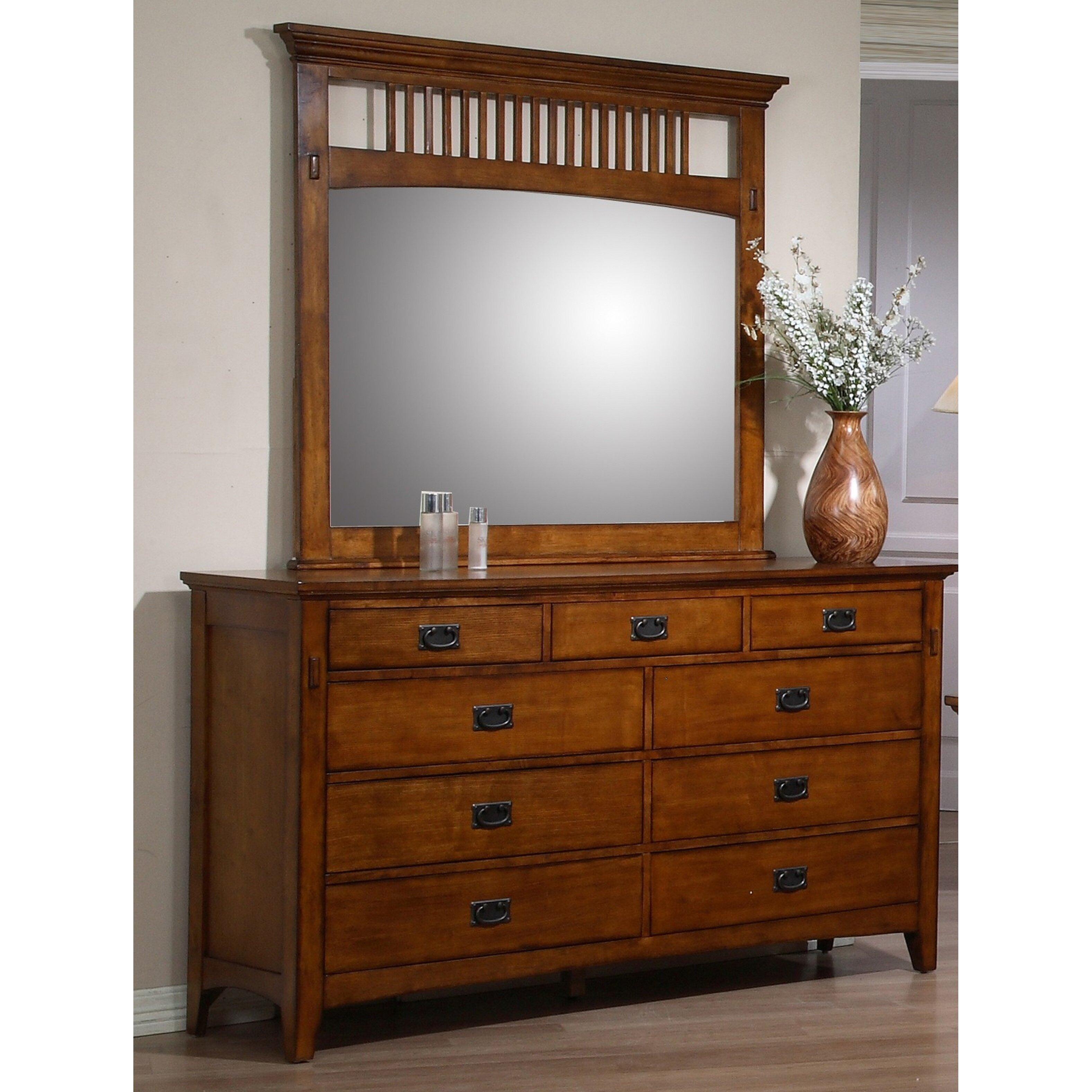 Loon Peak Elgin 7 Drawer Dresser With Mirror Wayfair