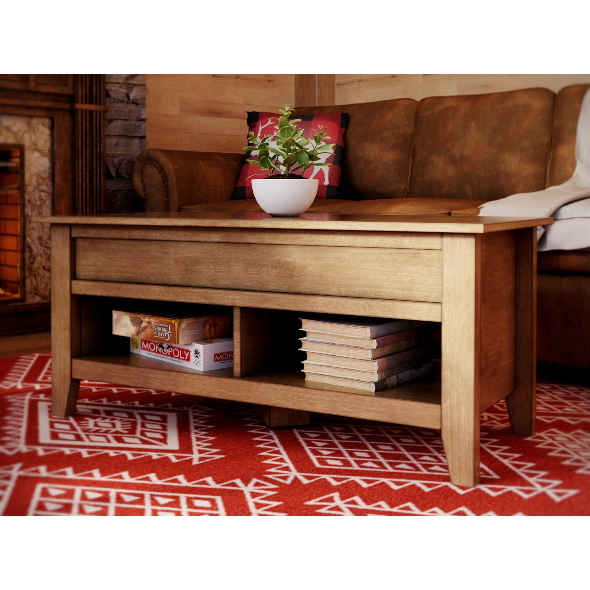 Loon Peak Signal Mountain Coffee Table With Lift Top