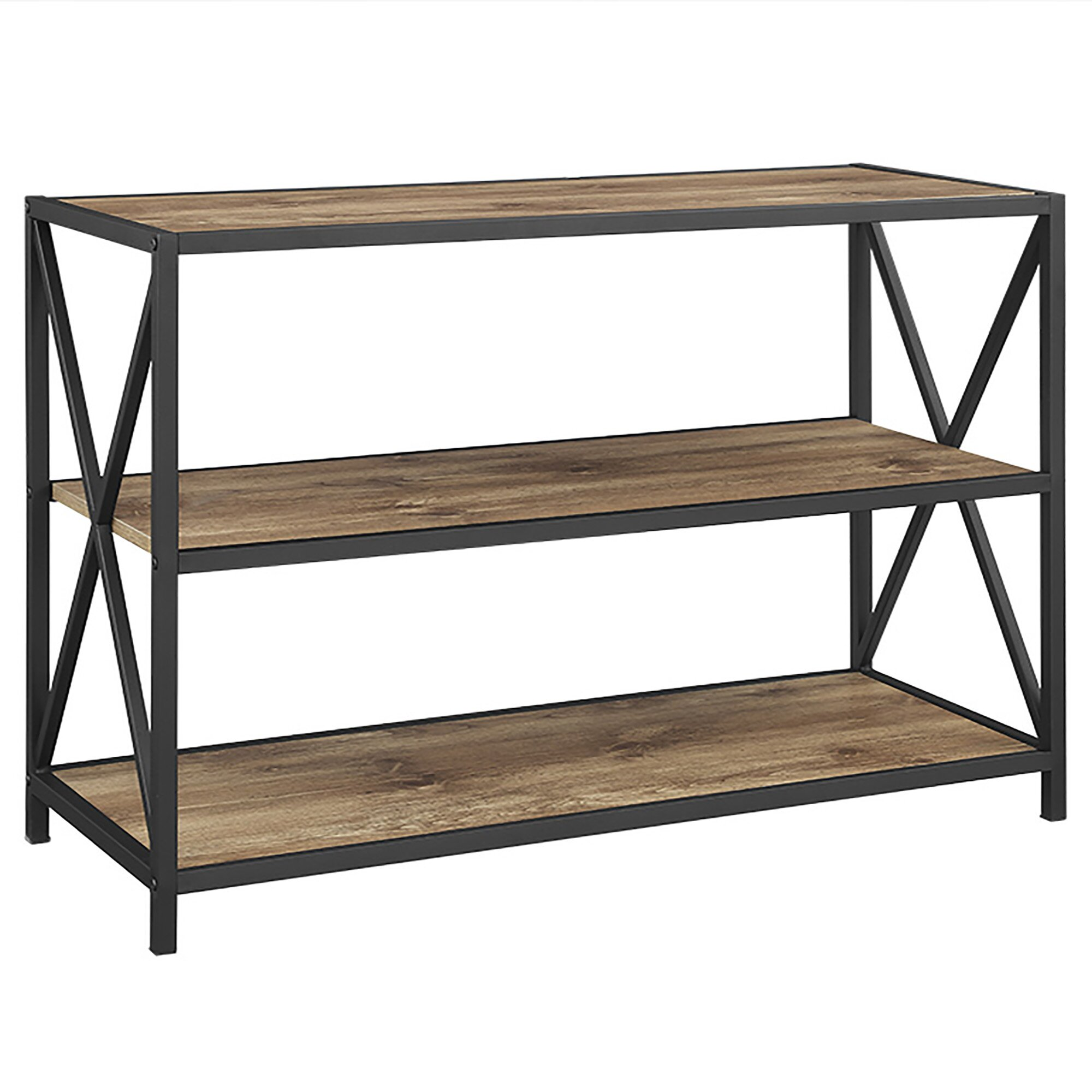 loon peak armandale metal and wood 26 etagere wayfair. Black Bedroom Furniture Sets. Home Design Ideas