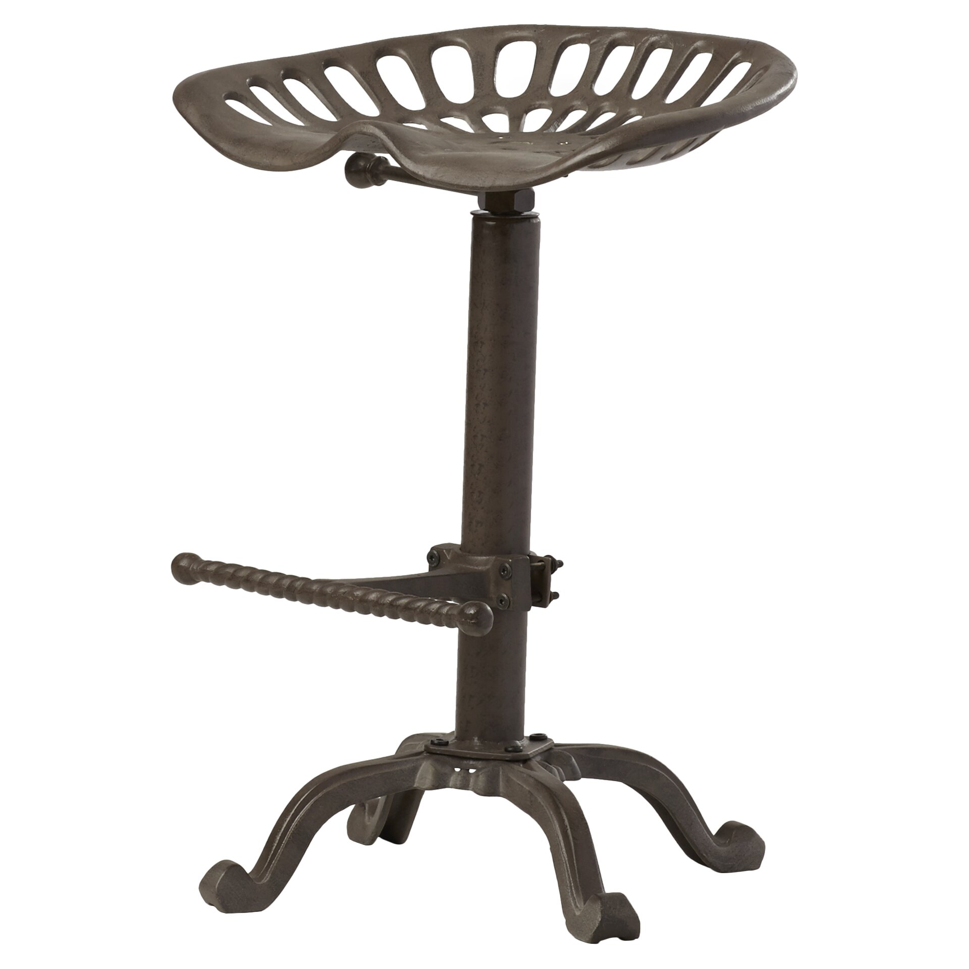 Trent austin design elsinore adjustable height swivel bar for Counter height swivel bar stools