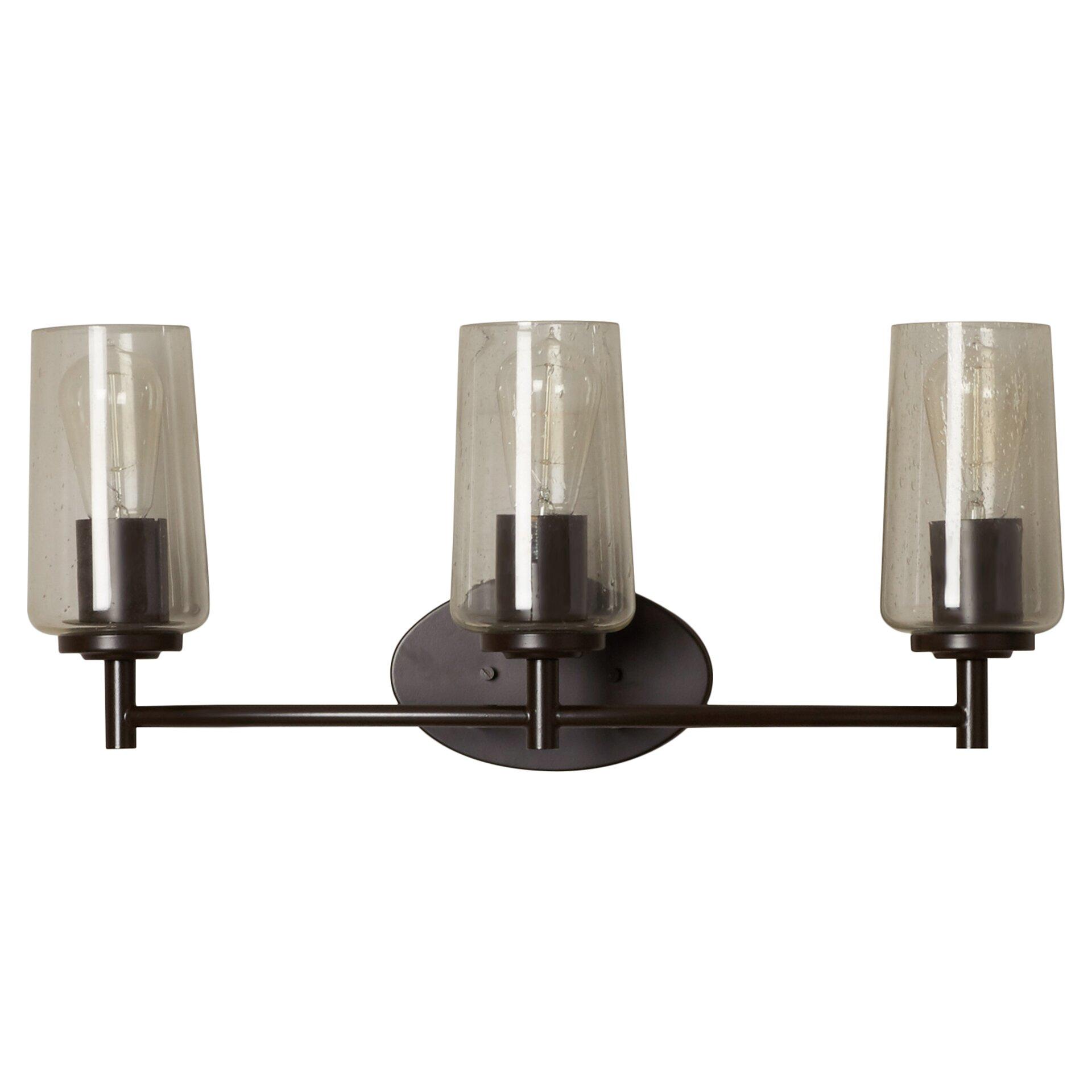 Trent austin design loveland 3 light vanity light for Wayfair industrial lamp