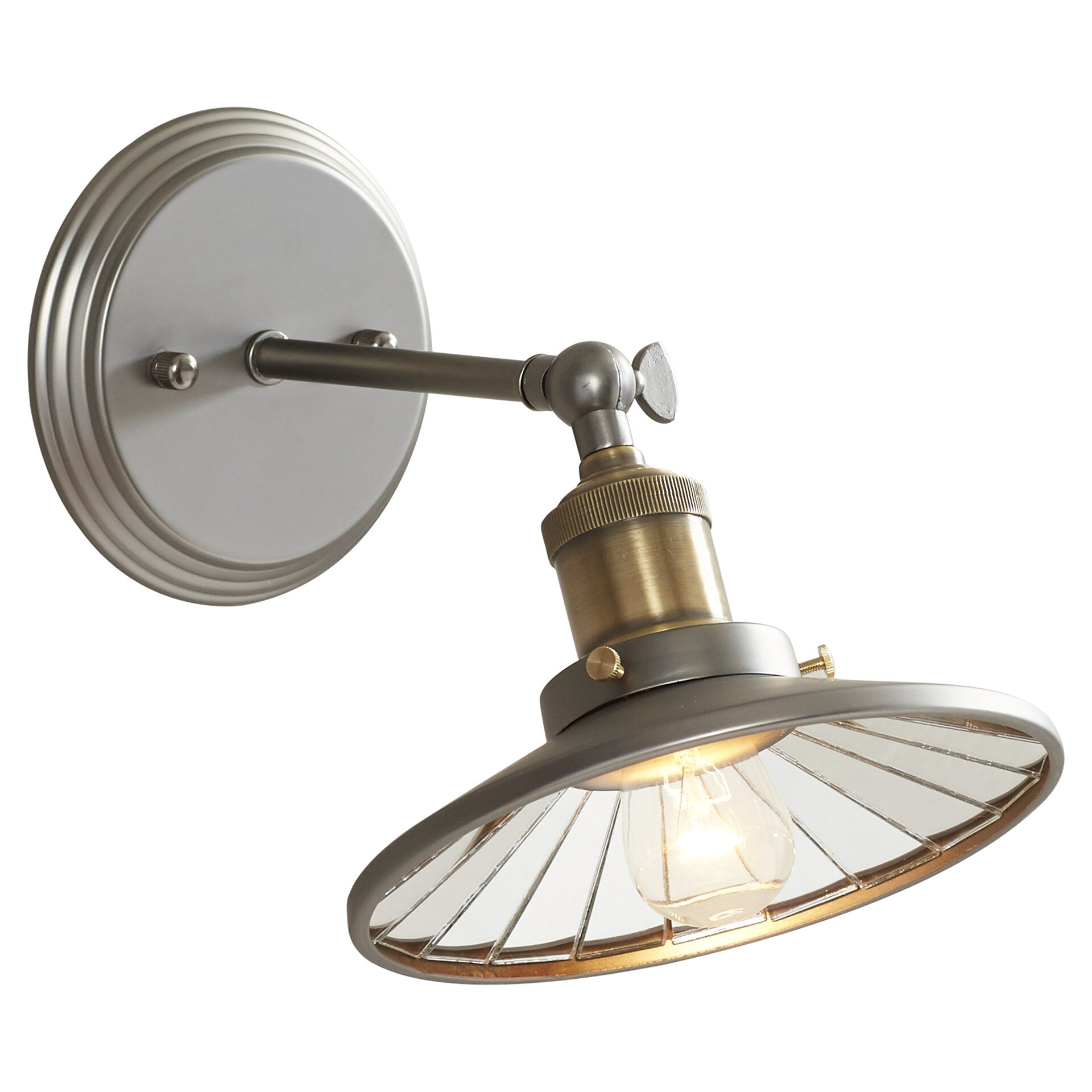 Wall Sconce With Magnifying Glass : Trent Austin Design Benge 1 Light Wall Sconce & Reviews Wayfair
