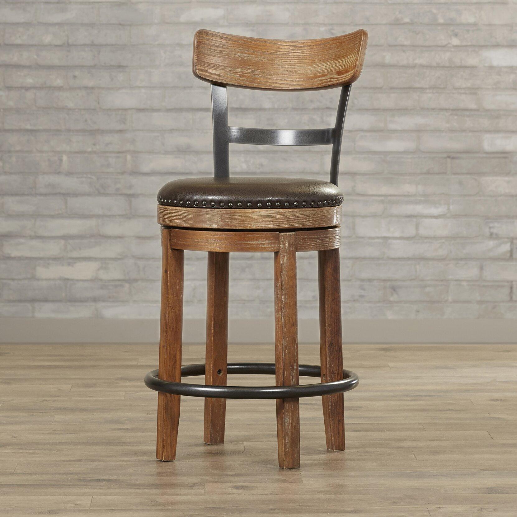 "Christmas Tree Shop Bar Stools: Trent Austin Design Empire 24.25"" Swivel Bar Stool"