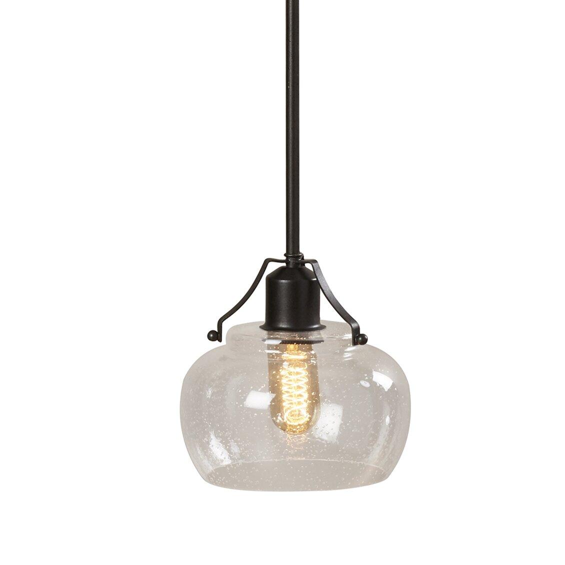 Trent austin design wabanaki 1 light mini pendant for Wayfair industrial lamp