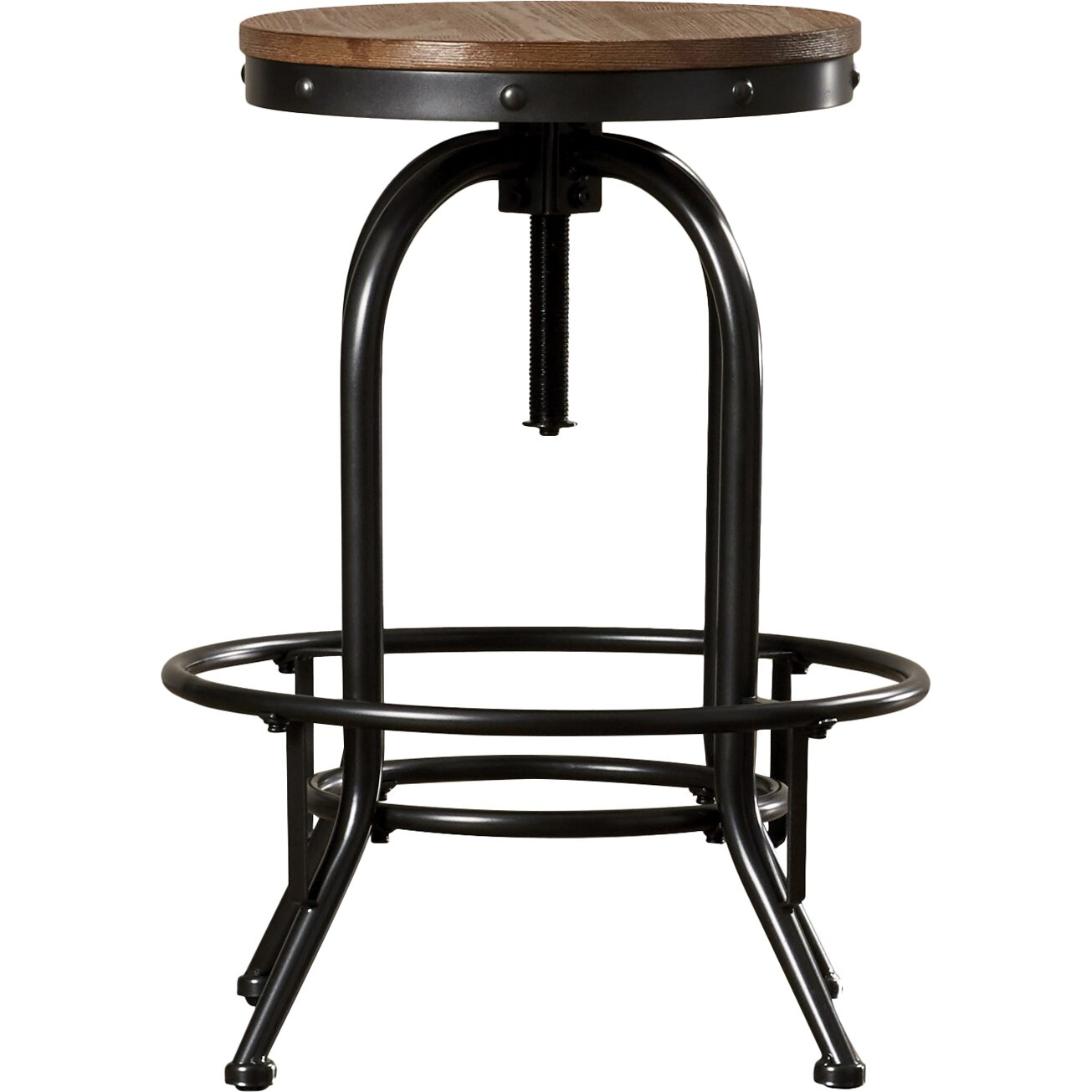 Trent austin design empire adjustable height swivel bar for Counter height swivel bar stools