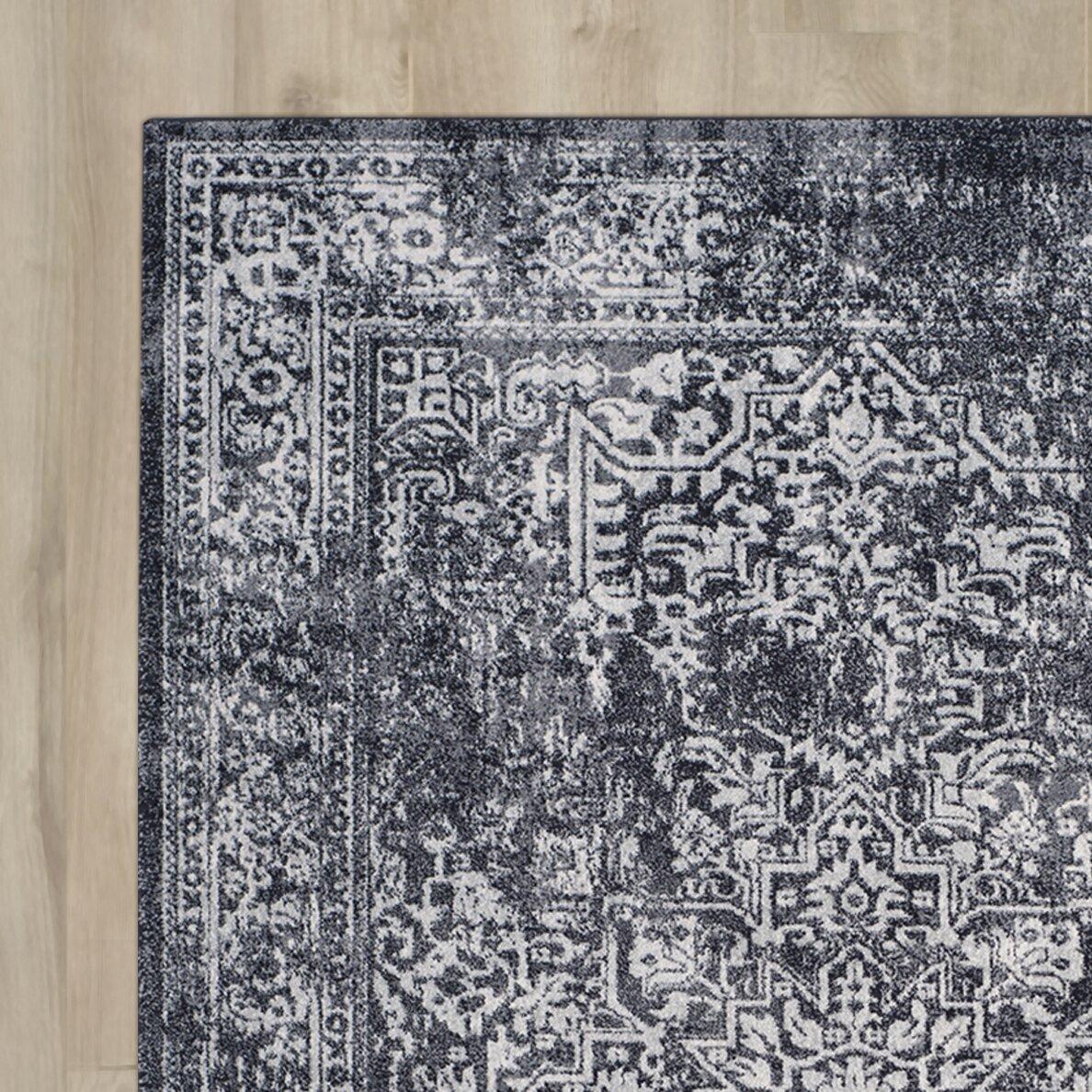 Black And Grey Rugs: Bungalow Rose Farino Black/Grey Area Rug & Reviews